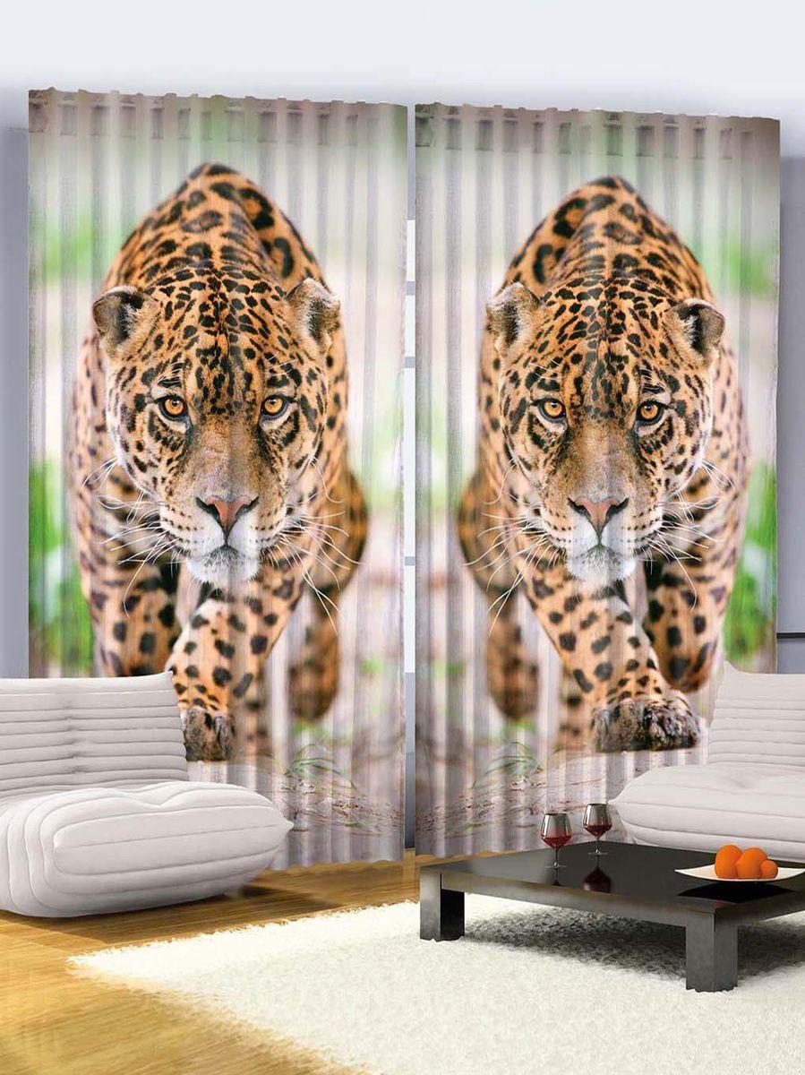 Комплект фотоштор Magic Lady Хищный леопард, на ленте, высота 265 см. шсг_76821327Компания Сэмболь изготавливает шторы из высококачественного сатена (полиэстер 100%). При изготовлении используются специальные гипоаллергенные чернила для прямой печати по ткани, безопасные для человека и животных. Экологичность продукции Magic lady и безопасность для окружающей среды подтверждены сертификатом Oeko-Tex Standard 100. Крепление: крючки для крепления на шторной ленте (50 шт). Возможно крепление на трубу. Внимание! При нанесении сублимационной печати на ткань технологическим методом при температуре 240°С, возможно отклонение полученных размеров (указанных на этикетке и сайте) от стандартных на + - 3-5 см. Производитель старается максимально точно передать цвета изделия на фотографиях, однако искажения неизбежны и фактический цвет изделия может отличаться от воспринимаемого по фото. Обратите внимание! Шторы изготовлены из полиэстра сатенового переплетения, а не из сатина (хлопок). Размер одного полотна шторы: 145х265 см. В комплекте 2 полотна шторы и 50 крючков.