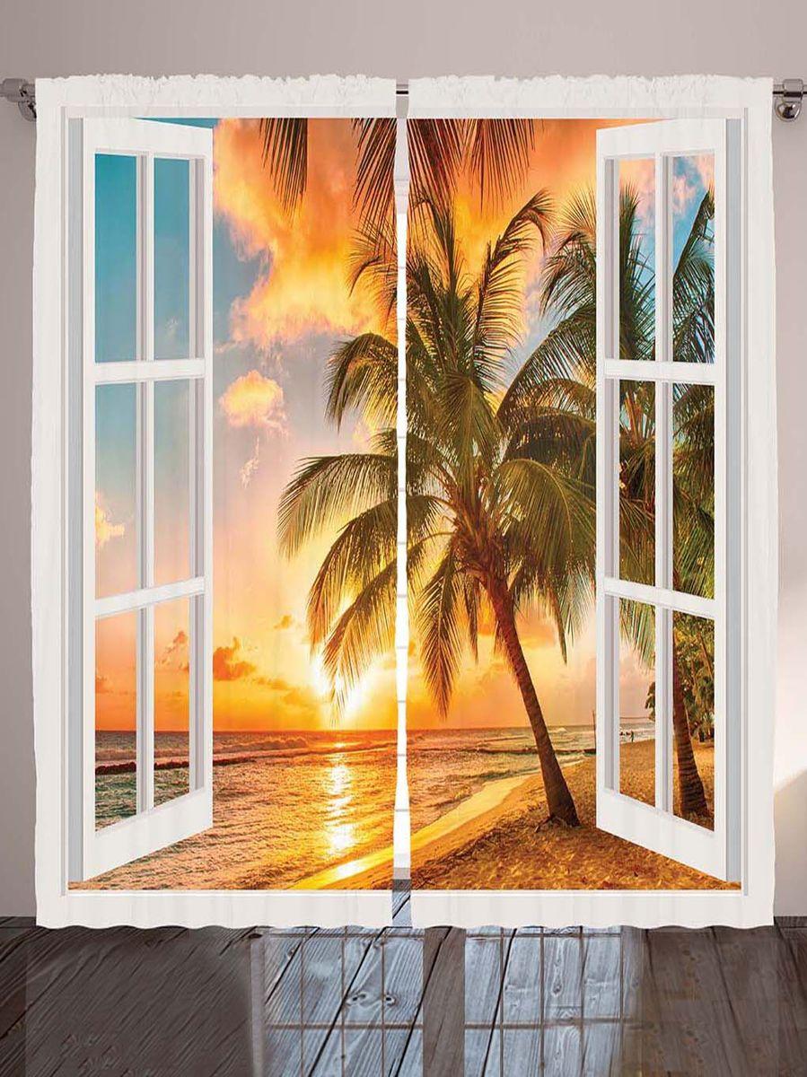 Комплект фотоштор Magic Lady Оранжевый закат за окнами, на ленте, высота 265 см. шсг_778421289Компания Сэмболь изготавливает шторы из высококачественного сатена (полиэстер 100%). При изготовлении используются специальные гипоаллергенные чернила для прямой печати по ткани, безопасные для человека и животных. Экологичность продукции Magic lady и безопасность для окружающей среды подтверждены сертификатом Oeko-Tex Standard 100. Крепление: крючки для крепления на шторной ленте (50 шт). Возможно крепление на трубу. Внимание! При нанесении сублимационной печати на ткань технологическим методом при температуре 240°С, возможно отклонение полученных размеров (указанных на этикетке и сайте) от стандартных на + - 3-5 см. Производитель старается максимально точно передать цвета изделия на фотографиях, однако искажения неизбежны и фактический цвет изделия может отличаться от воспринимаемого по фото. Обратите внимание! Шторы изготовлены из полиэстра сатенового переплетения, а не из сатина (хлопок). Размер одного полотна шторы: 145х265 см. В комплекте 2 полотна шторы и 50 крючков.