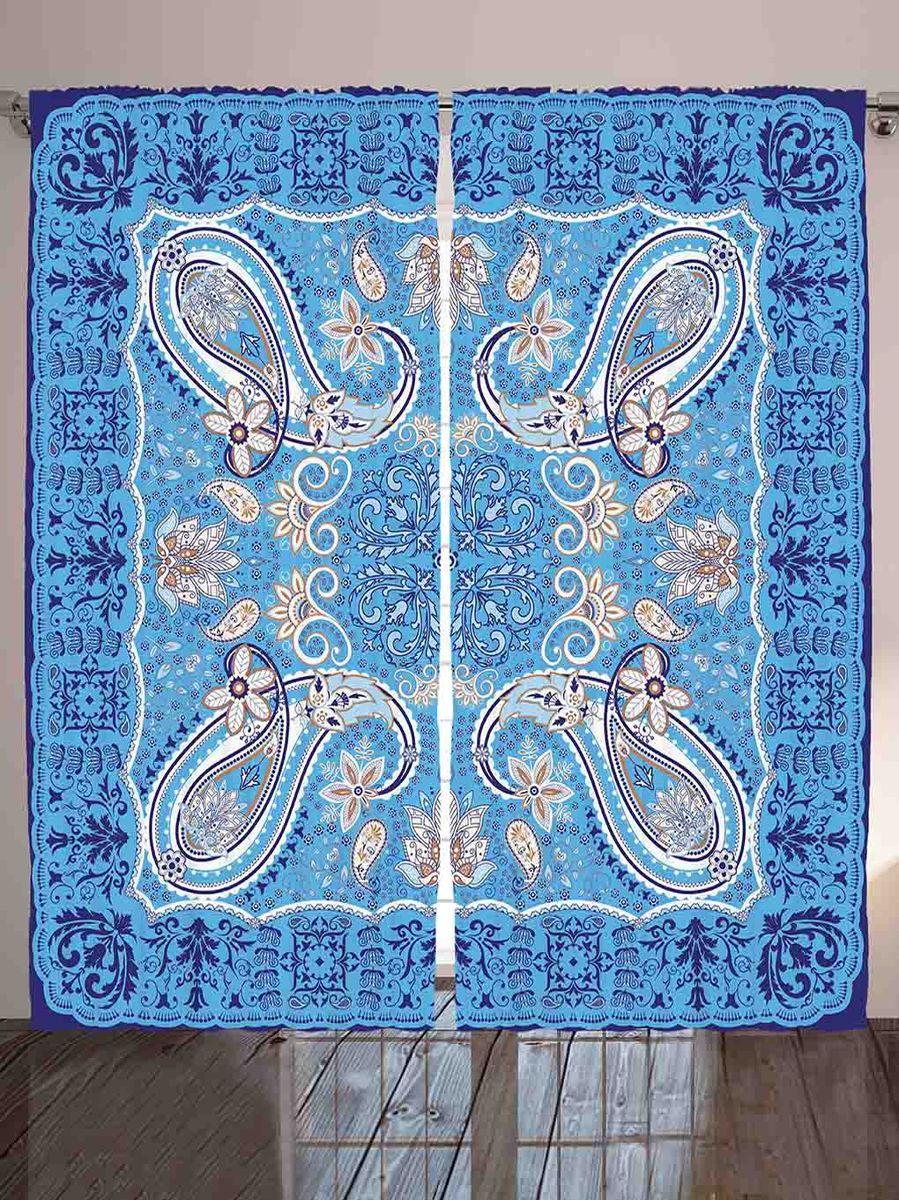 Комплект фотоштор Magic Lady Пейсли на голубом фоне, на ленте, высота 265 см. шсг_879121296Компания Сэмболь изготавливает шторы из высококачественного сатена (полиэстер 100%). При изготовлении используются специальные гипоаллергенные чернила для прямой печати по ткани, безопасные для человека и животных. Экологичность продукции Magic lady и безопасность для окружающей среды подтверждены сертификатом Oeko-Tex Standard 100. Крепление: крючки для крепления на шторной ленте (50 шт). Возможно крепление на трубу. Внимание! При нанесении сублимационной печати на ткань технологическим методом при температуре 240°С, возможно отклонение полученных размеров (указанных на этикетке и сайте) от стандартных на + - 3-5 см. Производитель старается максимально точно передать цвета изделия на фотографиях, однако искажения неизбежны и фактический цвет изделия может отличаться от воспринимаемого по фото. Обратите внимание! Шторы изготовлены из полиэстра сатенового переплетения, а не из сатина (хлопок). Размер одного полотна шторы: 145х265 см. В комплекте 2 полотна шторы и 50 крючков.