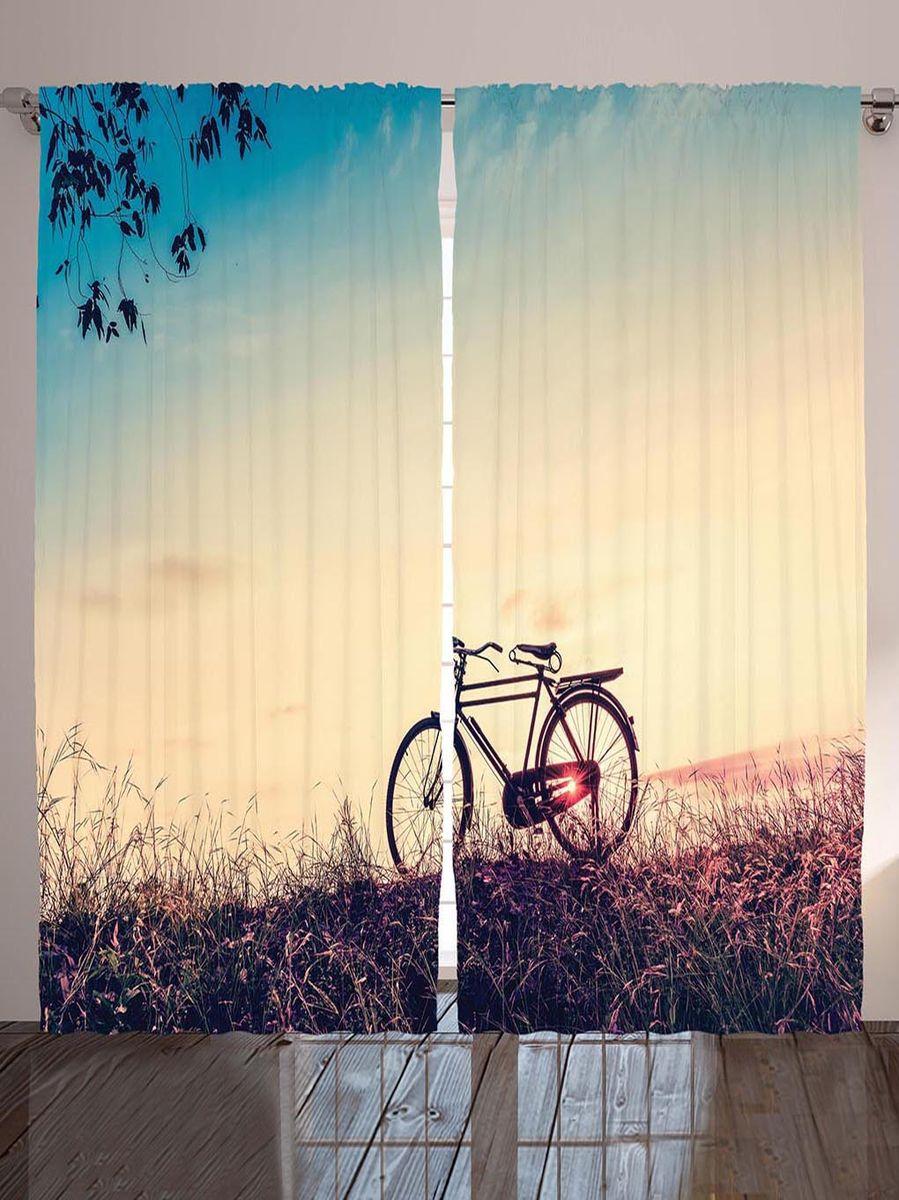 Комплект фотоштор Magic Lady Прогулка на велосипеде по августовскому лугу на закате дня, на ленте, высота 265 см. шсг_898321324Компания Сэмболь изготавливает шторы из высококачественного сатена (полиэстер 100%). При изготовлении используются специальные гипоаллергенные чернила для прямой печати по ткани, безопасные для человека и животных. Экологичность продукции Magic lady и безопасность для окружающей среды подтверждены сертификатом Oeko-Tex Standard 100. Крепление: крючки для крепления на шторной ленте (50 шт). Возможно крепление на трубу. Внимание! При нанесении сублимационной печати на ткань технологическим методом при температуре 240°С, возможно отклонение полученных размеров (указанных на этикетке и сайте) от стандартных на + - 3-5 см. Производитель старается максимально точно передать цвета изделия на фотографиях, однако искажения неизбежны и фактический цвет изделия может отличаться от воспринимаемого по фото. Обратите внимание! Шторы изготовлены из полиэстра сатенового переплетения, а не из сатина (хлопок). Размер одного полотна шторы: 145х265 см. В комплекте 2 полотна шторы и 50 крючков.