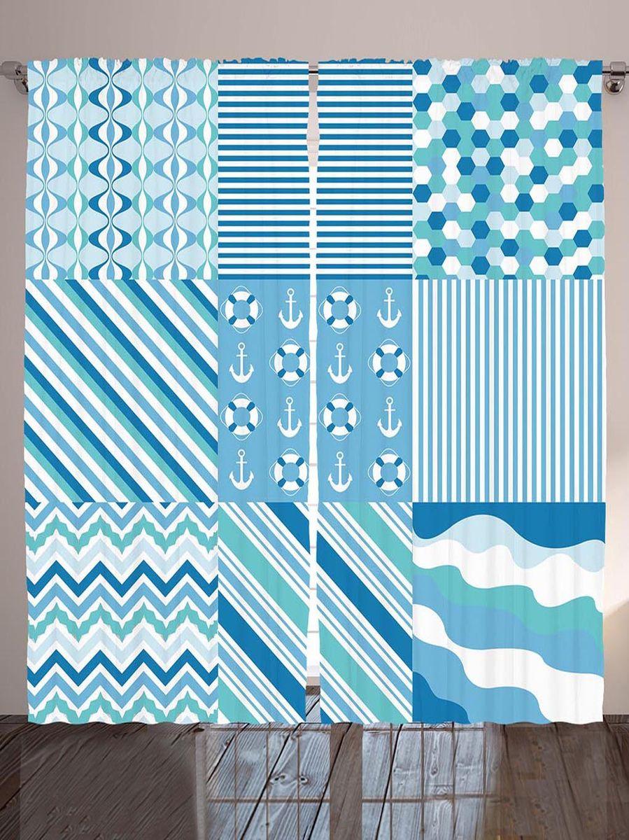 Комплект фотоштор Magic Lady Якоря, спасательные круги, полоски, зигзаги и волны, на ленте, высота 265 см. шсг_9006шсг_2512Компания Сэмболь изготавливает шторы из высококачественного сатена (полиэстер 100%). При изготовлении используются специальные гипоаллергенные чернила для прямой печати по ткани, безопасные для человека и животных. Экологичность продукции Magic lady и безопасность для окружающей среды подтверждены сертификатом Oeko-Tex Standard 100. Крепление: крючки для крепления на шторной ленте (50 шт). Возможно крепление на трубу. Внимание! При нанесении сублимационной печати на ткань технологическим методом при температуре 240°С, возможно отклонение полученных размеров (указанных на этикетке и сайте) от стандартных на + - 3-5 см. Производитель старается максимально точно передать цвета изделия на фотографиях, однако искажения неизбежны и фактический цвет изделия может отличаться от воспринимаемого по фото. Обратите внимание! Шторы изготовлены из полиэстра сатенового переплетения, а не из сатина (хлопок). Размер одного полотна шторы: 145х265 см. В комплекте 2 полотна шторы и 50 крючков.
