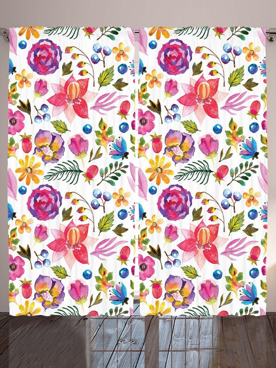 Комплект фотоштор Magic Lady Цветы и ягоды, на ленте, высота 265 см. шсг_912321279Компания Сэмболь изготавливает шторы из высококачественного сатена (полиэстер 100%). При изготовлении используются специальные гипоаллергенные чернила для прямой печати по ткани, безопасные для человека и животных. Экологичность продукции Magic lady и безопасность для окружающей среды подтверждены сертификатом Oeko-Tex Standard 100. Крепление: крючки для крепления на шторной ленте (50 шт). Возможно крепление на трубу. Внимание! При нанесении сублимационной печати на ткань технологическим методом при температуре 240°С, возможно отклонение полученных размеров (указанных на этикетке и сайте) от стандартных на + - 3-5 см. Производитель старается максимально точно передать цвета изделия на фотографиях, однако искажения неизбежны и фактический цвет изделия может отличаться от воспринимаемого по фото. Обратите внимание! Шторы изготовлены из полиэстра сатенового переплетения, а не из сатина (хлопок). Размер одного полотна шторы: 145х265 см. В комплекте 2 полотна шторы и 50 крючков.