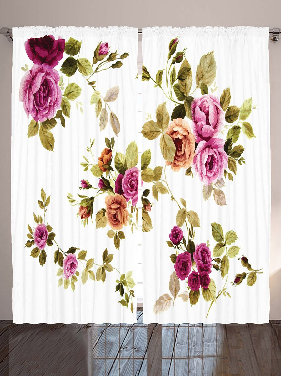 Комплект фотоштор Magic Lady Акварельные розы, на ленте, высота 265 см. шсг_9138шсг_3759Компания Сэмболь изготавливает шторы из высококачественного сатена (полиэстер 100%). При изготовлении используются специальные гипоаллергенные чернила для прямой печати по ткани, безопасные для человека и животных. Экологичность продукции Magic lady и безопасность для окружающей среды подтверждены сертификатом Oeko-Tex Standard 100. Крепление: крючки для крепления на шторной ленте (50 шт). Возможно крепление на трубу. Внимание! При нанесении сублимационной печати на ткань технологическим методом при температуре 240°С, возможно отклонение полученных размеров (указанных на этикетке и сайте) от стандартных на + - 3-5 см. Производитель старается максимально точно передать цвета изделия на фотографиях, однако искажения неизбежны и фактический цвет изделия может отличаться от воспринимаемого по фото. Обратите внимание! Шторы изготовлены из полиэстра сатенового переплетения, а не из сатина (хлопок). Размер одного полотна шторы: 145х265 см. В комплекте 2 полотна шторы и 50 крючков.