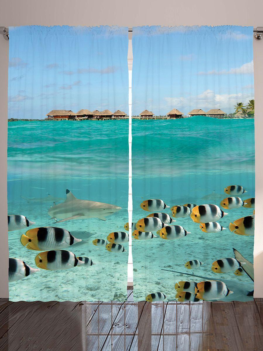 Комплект фотоштор Magic Lady На охоте хищная акула, на ленте, высота 265 см. шсг_924121282Компания Сэмболь изготавливает шторы из высококачественного сатена (полиэстер 100%). При изготовлении используются специальные гипоаллергенные чернила для прямой печати по ткани, безопасные для человека и животных. Экологичность продукции Magic lady и безопасность для окружающей среды подтверждены сертификатом Oeko-Tex Standard 100. Крепление: крючки для крепления на шторной ленте (50 шт). Возможно крепление на трубу. Внимание! При нанесении сублимационной печати на ткань технологическим методом при температуре 240°С, возможно отклонение полученных размеров (указанных на этикетке и сайте) от стандартных на + - 3-5 см. Производитель старается максимально точно передать цвета изделия на фотографиях, однако искажения неизбежны и фактический цвет изделия может отличаться от воспринимаемого по фото. Обратите внимание! Шторы изготовлены из полиэстра сатенового переплетения, а не из сатина (хлопок). Размер одного полотна шторы: 145х265 см. В комплекте 2 полотна шторы и 50 крючков.