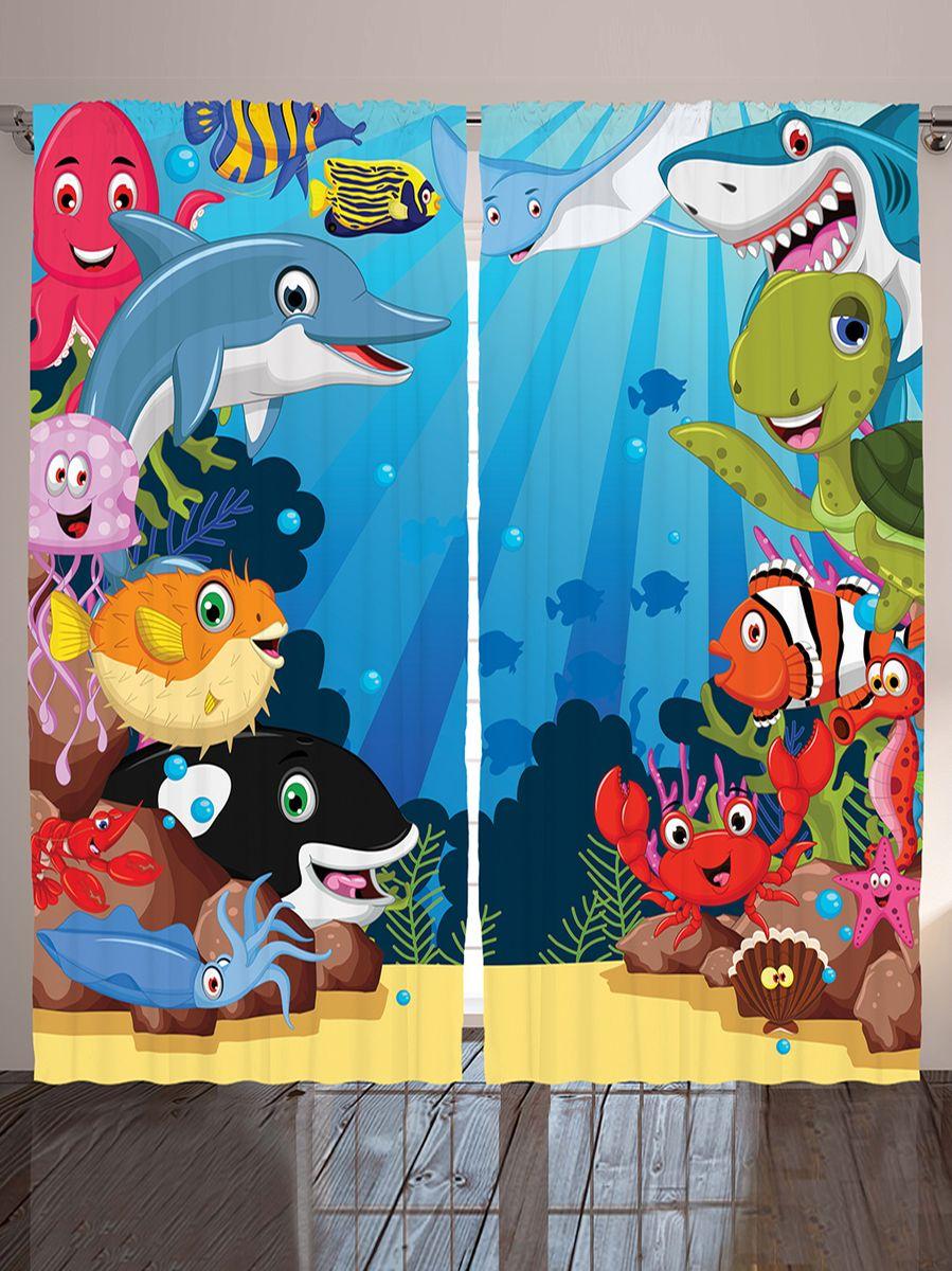 Комплект фотоштор Magic Lady Дельфин и рыбы клоун, еж, на ленте, высота 265 см. шсг_9520шсг_8922Компания Сэмболь изготавливает шторы из высококачественного сатена (полиэстер 100%). При изготовлении используются специальные гипоаллергенные чернила для прямой печати по ткани, безопасные для человека и животных. Экологичность продукции Magic lady и безопасность для окружающей среды подтверждены сертификатом Oeko-Tex Standard 100. Крепление: крючки для крепления на шторной ленте (50 шт). Возможно крепление на трубу. Внимание! При нанесении сублимационной печати на ткань технологическим методом при температуре 240°С, возможно отклонение полученных размеров (указанных на этикетке и сайте) от стандартных на + - 3-5 см. Производитель старается максимально точно передать цвета изделия на фотографиях, однако искажения неизбежны и фактический цвет изделия может отличаться от воспринимаемого по фото. Обратите внимание! Шторы изготовлены из полиэстра сатенового переплетения, а не из сатина (хлопок). Размер одного полотна шторы: 145х265 см. В комплекте 2 полотна шторы и 50 крючков.