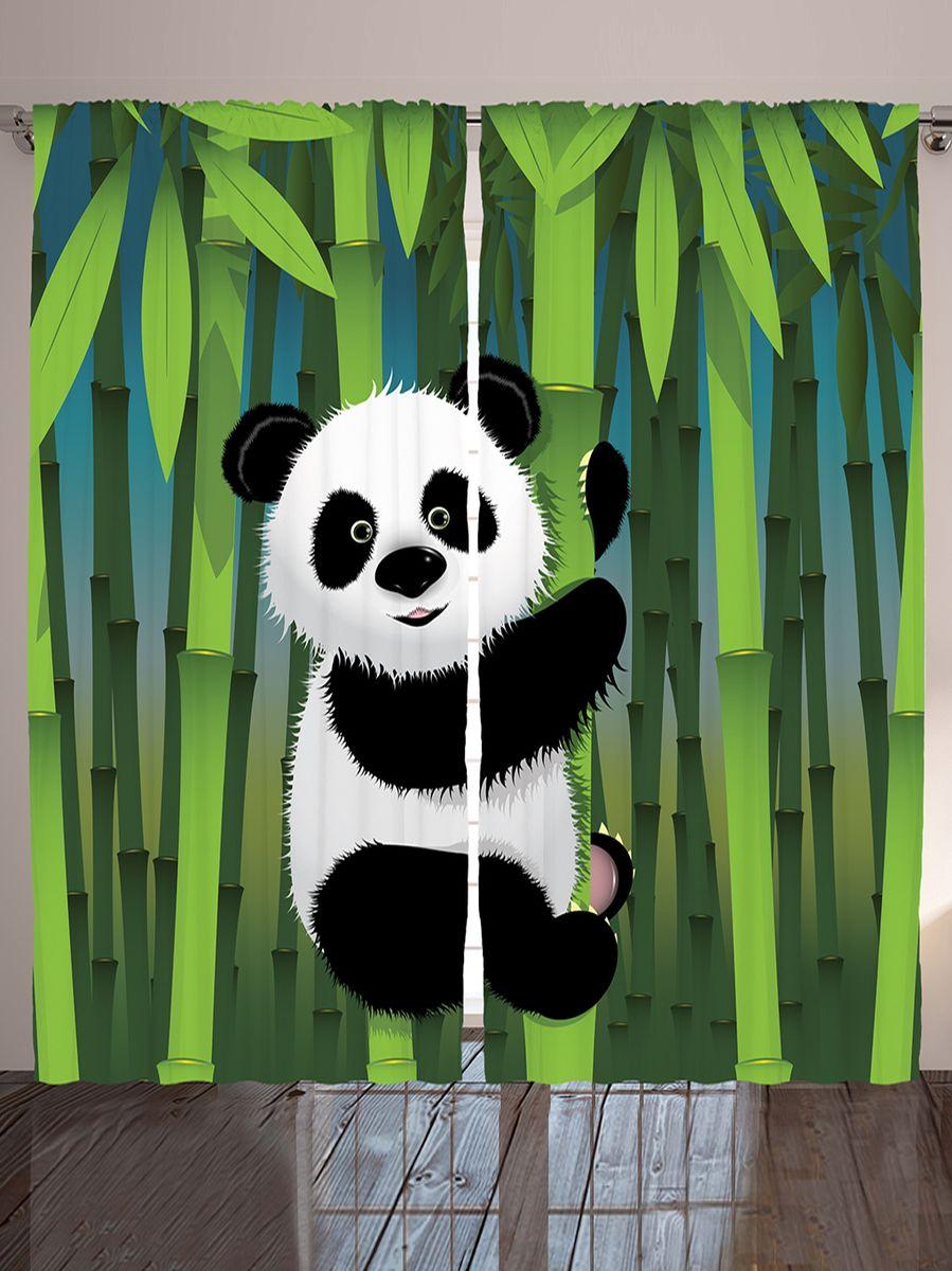 Комплект фотоштор Magic Lady Мягкая панда на бамбуке, на ленте, высота 265 см. шсг_955120736Компания Сэмболь изготавливает шторы из высококачественного сатена (полиэстер 100%). При изготовлении используются специальные гипоаллергенные чернила для прямой печати по ткани, безопасные для человека и животных. Экологичность продукции Magic lady и безопасность для окружающей среды подтверждены сертификатом Oeko-Tex Standard 100. Крепление: крючки для крепления на шторной ленте (50 шт). Возможно крепление на трубу. Внимание! При нанесении сублимационной печати на ткань технологическим методом при температуре 240°С, возможно отклонение полученных размеров (указанных на этикетке и сайте) от стандартных на + - 3-5 см. Производитель старается максимально точно передать цвета изделия на фотографиях, однако искажения неизбежны и фактический цвет изделия может отличаться от воспринимаемого по фото. Обратите внимание! Шторы изготовлены из полиэстра сатенового переплетения, а не из сатина (хлопок). Размер одного полотна шторы: 145х265 см. В комплекте 2 полотна шторы и 50 крючков.