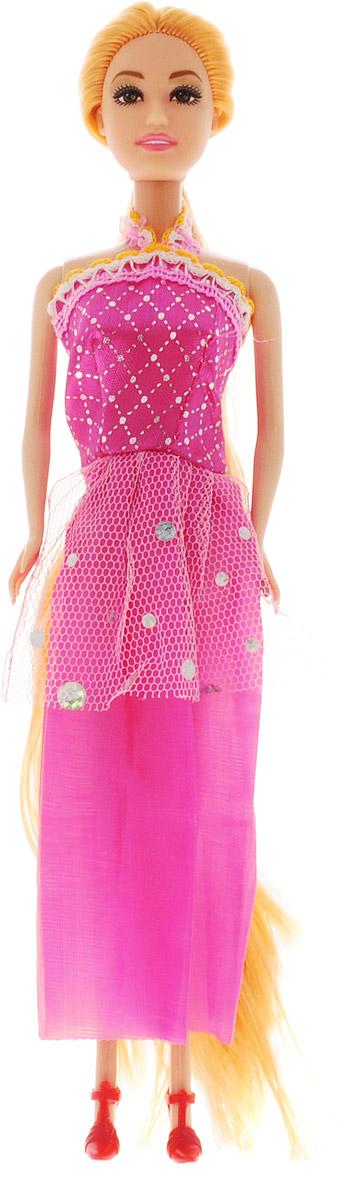 ABtoys Кукла Модница цвет платья розовый abtoys кукла зимняя фея сноусторм