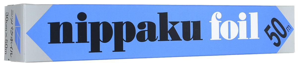 Фольга алюминиевая Nippaku, 30 cм х 50 м862340Алюминиевая фольга Nippaku отличается повышенной прочностью - на 50% больше, чем у других аналогов. Упаковка снабжена специальным удобным резаком. Фольга предназначена для быстрой и гигиенической упаковки продуктов, сохраняет вкус и аромат, защищает от высыхания. Также незаменима при запекании мяса, птицы, рыбы и овощей. Позволяет сохранить натуральный вкус и пищевую ценность продуктов.Размер (ШхД): 30 cм х 50 м.