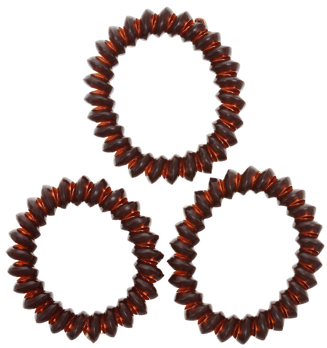 Резинка для волос Mitya Veselkov Dark Brown, цвет: коричневый, 3 шт. ELASTIC-BR-BROWNKRAB3-M2REDЯркие резинки-браслеты Mitya Veselkov выполнены из качественного ПВХ. Столь необычная форма резинок дает множество преимуществ. Резинка не оставляет заломов на волосах. При длительном ношении, снимая ее, вы не почувствуете усталость волос.Оригинально смотрится на волосах. Отлично сохраняет свою форму и надежно фиксирует прическу. Не мокнет. Не травмирует волосы. В отличие от обычных резинок, нет трения, зажимов отдельных волосков или прядей.Также их можно использовать как стильные браслеты.