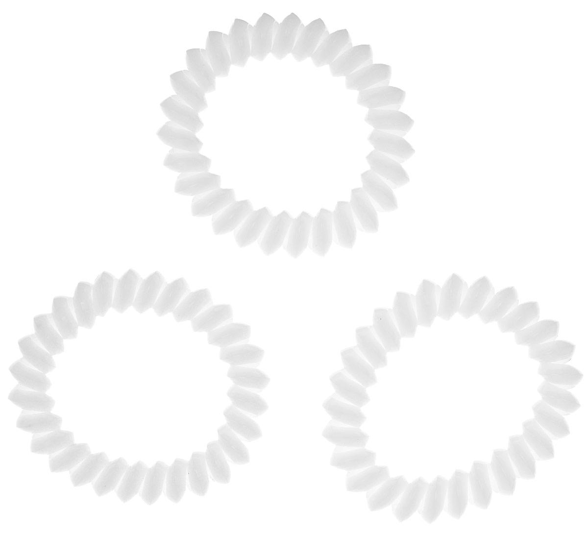 Резинка для волос Mitya Veselkov Cloudy White, цвет: белый, 3 шт. ELASTIC-BR-WHITEMP59.4DЯркие резинки-браслеты Mitya Veselkov выполнены из качественного ПВХ. Столь необычная форма резинок дает множество преимуществ. Резинка не оставляет заломов на волосах. При длительном ношении, снимая ее, вы не почувствуете усталость волос.Оригинально смотрится на волосах. Отлично сохраняет свою форму и надежно фиксирует прическу. Не мокнет. Не травмирует волосы. В отличие от обычных резинок, нет трения, зажимов отдельных волосков или прядей.Также их можно использовать как стильные браслеты.