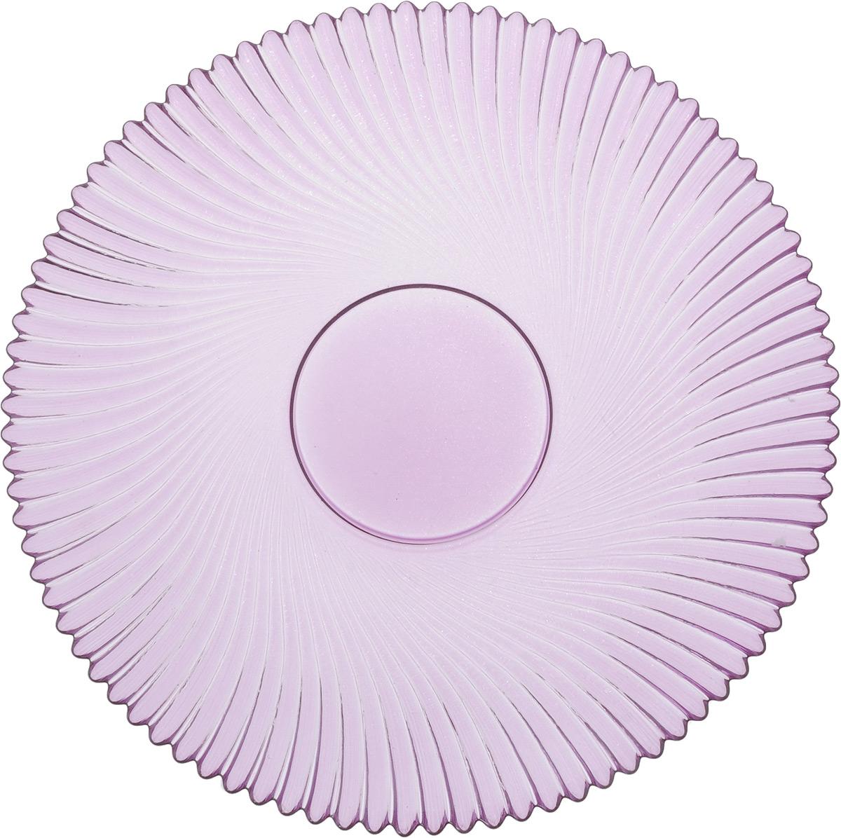 Тарелка NiNaGlass Альтера, цвет: сиреневый, диаметр 21 см54 009312Тарелка NiNaGlass Альтера выполнена из высококачественного стекла и оформлена красивым рельефным узором. Тарелка идеальна для подачи вторых блюд, а также сервировки закусок, нарезок, десертов и многого другого. Она отлично подойдет как для повседневных, так и для торжественных случаев.Такая тарелка прекрасно впишется в интерьер вашей кухни и станет достойным дополнением к кухонному инвентарю.