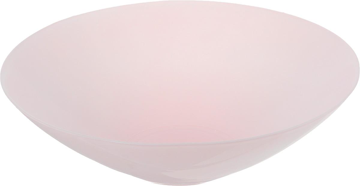 Салатник NiNaGlass Голландия, цвет: светло-розовый, диаметр 25 см115510Салатник NiNaGlass Голландия выполнен из высококачественного матового стекла. Салатник идеален для сервировки салатов, овощей, ягод, фруктов, гарниров и многого другого. Он отлично подойдет как для повседневных, так и для торжественных случаев.Такой салатник прекрасно впишется в интерьер вашей кухни и станет достойным дополнением к кухонному инвентарю.Диаметр салатника (по верхнему краю): 25 см.Высота стенки: 7,5 см.