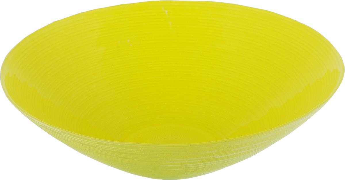 Салатник NiNaGlass Риски, цвет: желто-зеленый, диаметр 25,5 см83-012-Ф25 Р-Ж-ЗСалатник NiNaGlass Риски выполнен из высококачественного стекла. Внешние стенки оформлены рельефным узором. Салатник идеален для сервировки салатов, овощей, ягод, фруктов, гарниров и многого другого. Он отлично подойдет как для повседневных, так и для торжественных случаев.Такой салатник прекрасно впишется в интерьер вашей кухни и станет достойным дополнением к кухонному инвентарю.Диаметр салатника (по верхнему краю): 25,5 см.Высота стенки: 7,5 см.