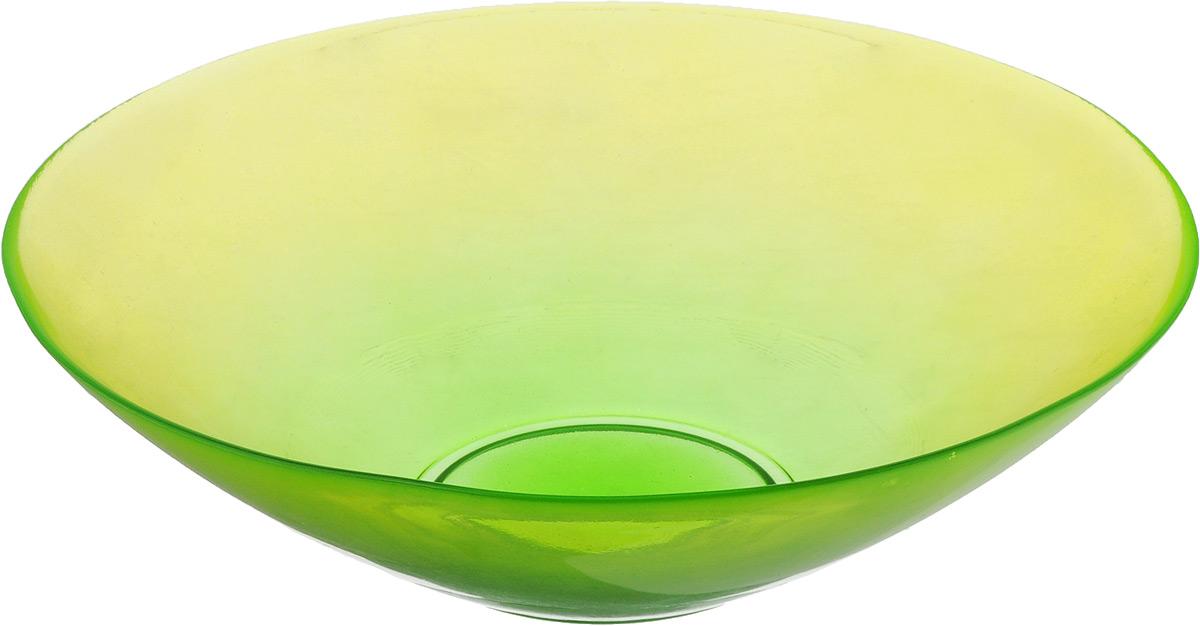Салатник NiNaGlass Голландия, цвет: прозрачный желто-зеленый, диаметр 25 см54 009312Салатник NiNaGlass Голландия выполнен из высококачественного двухцветного стекла с эффектом градиент. Салатник идеален для сервировки салатов, овощей, ягод, фруктов, гарниров и многого другого. Он отлично подойдет как для повседневных, так и для торжественных случаев.Такой салатник прекрасно впишется в интерьер вашей кухни и станет достойным дополнением к кухонному инвентарю.Диаметр салатника (по верхнему краю): 25 см.Высота стенки: 7,5 см.