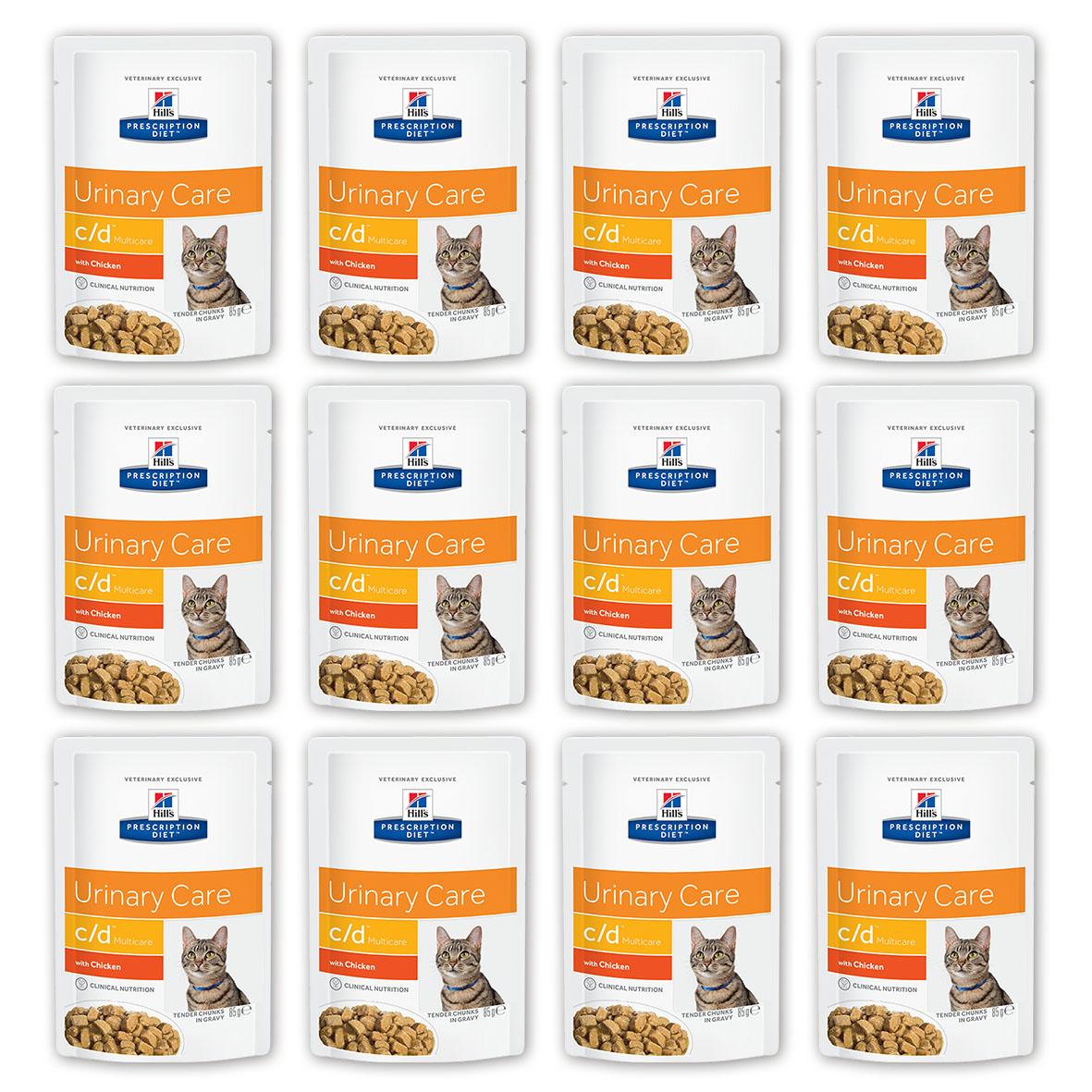 Консервы для кошек Hills Prescription Diet. C/D, для профилактики мочекаменной болезни, с курицей, 85 г, 12 шт3406_12Консервы для кошек Hills Prescription Diet. C/D рекомендуются на начальном этапе у кошек с любым типом заболеваний нижних отделов мочевыводящих путей, в том числе кристаллурией и/или уролитиазом любого генеза, уретральными пробками и идиопатическим циститом кошек. Подходят для долговременного использования для кошек, склонных к: - образованию струвитных кристаллов и уролитов, кристаллов и уролитов кальция оксалата и кальция фосфата (снижение появления и частоты рецидивов); - формированию уретральных пробок (почти всегда вызванных кристаллами струвита или кальция фосфата); - идиопатическому циститу (в этом случае особенно рекомендуется к применению консервированный рацион или пауч Hills Prescription Diet c/d Multicare Feline). Не рекомендуется: - Котятам. - Беременным и кормящим кошкам. - Кошкам, получающим вещества, закисляющие мочу.Дополнительная информация: - Клинически доказано: растворяет струвиты всего за 14 дней. - Не рекомендуется дополнительно давать вещества, закисляющие мочу. - Необходимо контролировать состав мочи, чтобы гарантировать поддержание необходимого значения рН, при необходимости - исключить инфекцию мочевыводящих путей. Ключевые преимущества: - Сниженное содержание магния, кальция и фосфора снижает концентрацию компонентов струвита в моче (магния и фосфата), а также кальция и оксалата. - Контролируемое содержание натрия помогает поддерживать нормальную функцию почек. - Добавленный цитрат формирует растворимые комплексы с кальцием для ингибирования (замедления) образования оксалата кальция. - Витамин Е и бета-каротин нейтрализуют действие свободных радикалов, участвующих в развитии уролитиаза. - Исключен витамин С, так как является прекурсором оксалатов. - pH мочи 6.2-6.4 препятствует образованию и агрегации кристаллов струвита, не инициируя формирование оксалатных кристаллов. - Рекомендуем смешанное питание Hills Prescription Die