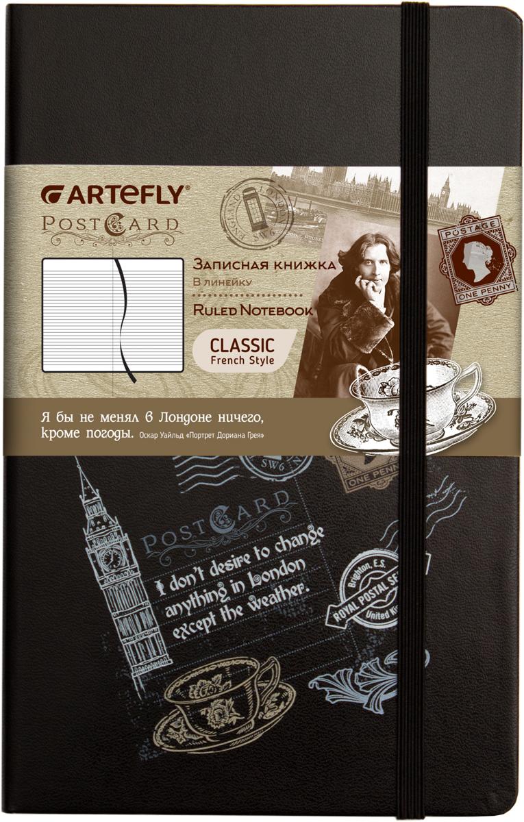 Artefly Записная книжка PostCard London 84 листа в линейку72523WDЗаписная книжка Artefly PostCard London будет всегда под рукой для записи нужной информации или важных мыслей.Внутренний блок состоит из 84 листов в линейку.Записная книжка имеет закругленные углы и кармашек на внутренней стороне обложки.Благодаря своему размеру книжка легко поместится в карман или небольшую сумку.