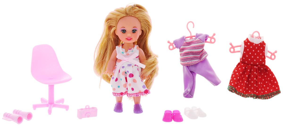 Defa Игровой набор с мини-куклой Happy Sairy Style цвет белый красный сиреневый