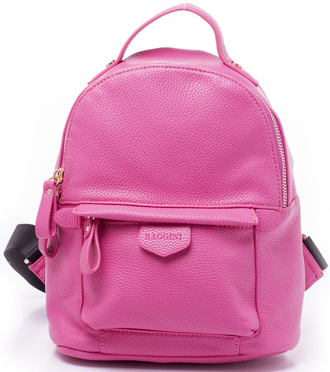 Рюкзак женский Baggini, цвет: розовый. 29882/643-47660-00504Компактный рюкзак Baggini подойдет как для создания романтичного и непринужденного образа, так и для функциональных потребностей к изделию. Рюкзак, несмотря на свои габариты, оснащен множеством карманов: один на застежке-молнии снаружи спереди, еще один, так же на молнии, сзади, четыре кармана внутри отделения - накладной для телефона, карман-разделитель на молнии, формирующий позади себя еще один карман и прорезной карман на застежке-молнии. Рюкзак оснащен широкими регулируемыми наплечными лямками и ручкой сверху для удобной переноски. Главное отделение застегивается на молнию.