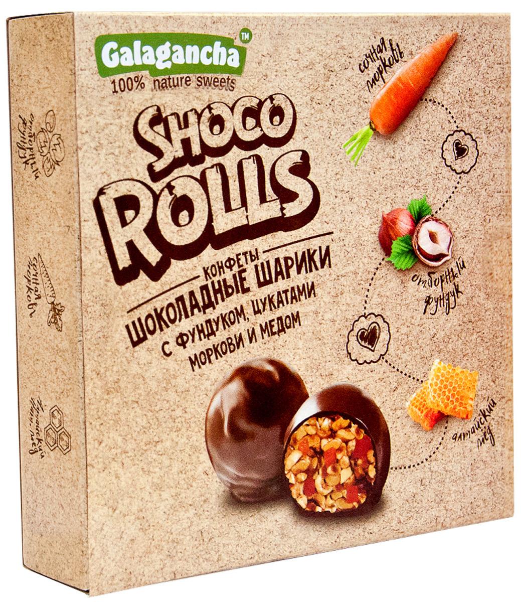 Galagancha Shoco Rolls мягкий грильяж с фундуком, 135 го0000007711100% натуральные;сниженное содержание сахара;ручная работа;идеально обжаренный фундук в сочетании с цукатами моркови сорта Шантане с настоящим алтайским медом;Galagancha - может быть превосходным подарком, а может быть приятными минутами домашнего вечера, а может быть…Уважаемые клиенты! Обращаем ваше внимание, что полный перечень состава продукта представлен на дополнительном изображении.