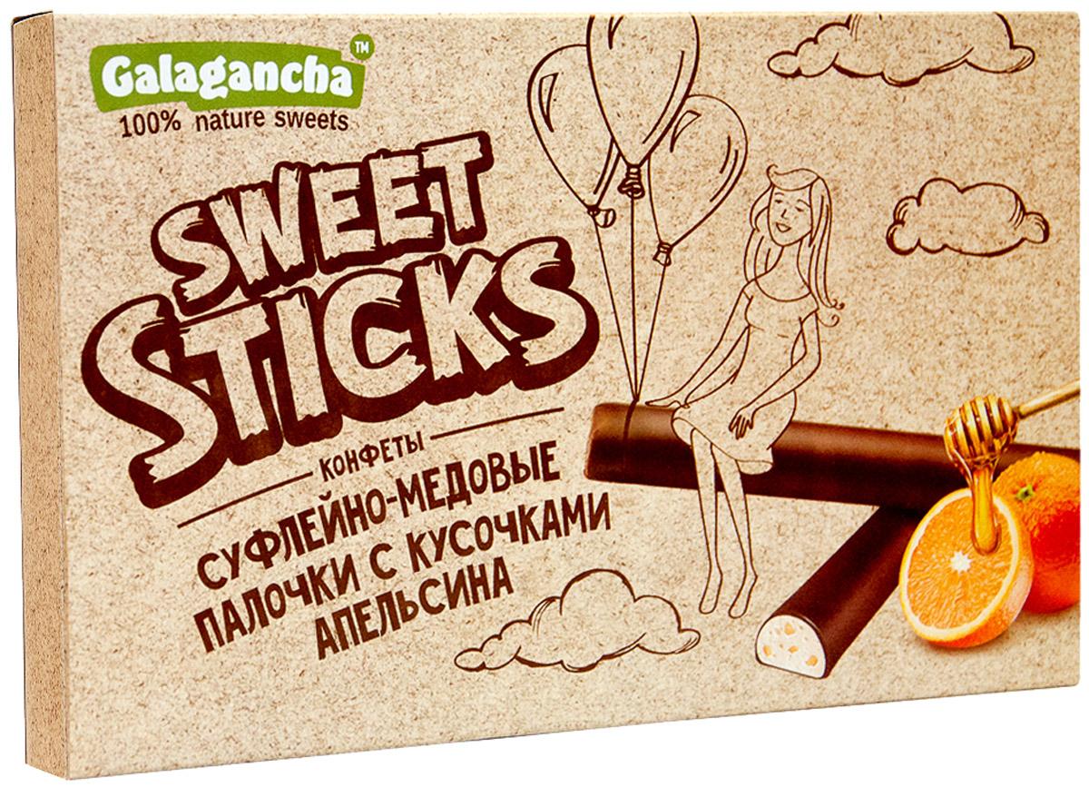 Galagancha Sweet Sticks конфеты суфлейные палочки с кусочками апельсина, 112 г0120710100% натуральные;сниженное содержание сахара;оригинальная форма суфле;легкий десерт с кусочками цедры апельсина;Galagancha - может быть превосходным подарком, а может быть приятными минутами домашнего вечера, а может быть … Sweet Sticks – это изысканное лакомство, очень нравится девушкам. Для тех, кто заботится о своем здоровье и форме.Уважаемые клиенты! Обращаем ваше внимание, что полный перечень состава продукта представлен на дополнительном изображении.