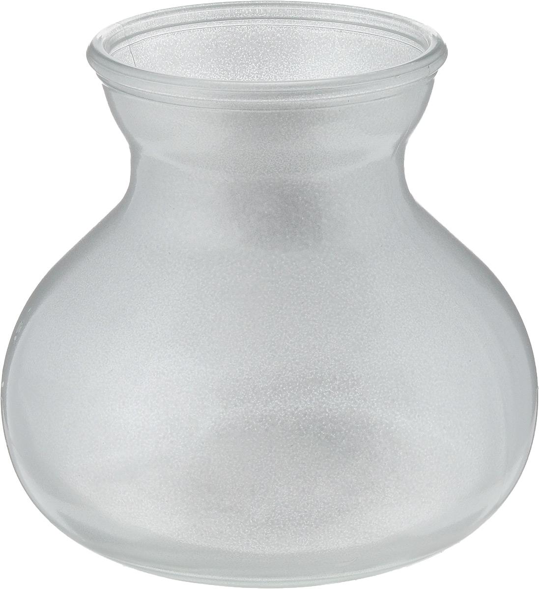 Ваза NiNaGlass Дана, цвет: серебро, высота 16 см420129Ваза NiNaGlass Дана выполнена из высококачественного стекла и имеет изысканный внешний вид. Такая ваза станет ярким украшением интерьера и прекрасным подарком к любому случаю.Высота вазы: 16 см.Диаметр вазы (по верхнему краю): 10 см.Объем вазы: 1,5 л.