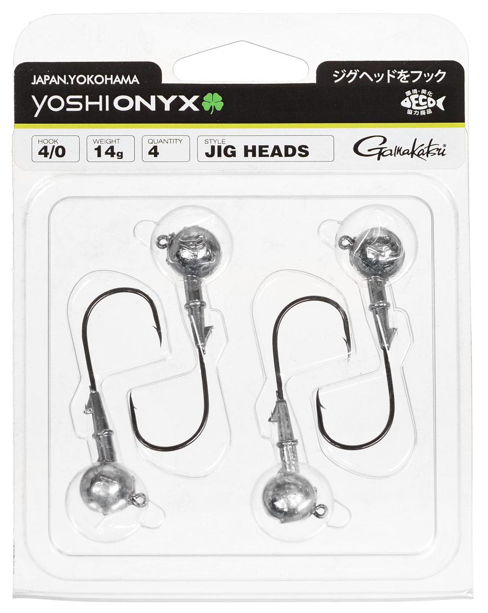 Джиг-головка Yoshi Onyx, крючок Gamakatsu 4/0, 14 г, 4 шт010-01199-01Джиг-головки Yoshi Onyx предназначены в первую очередь для донной спиннинговой ловли - джиг спиннинга. Джиг головками оснащаются всевозможные мягкие приманки: виброхвосты, твистеры, силиконовые рачки и черви. Возможно их применение и с естественными насадками, к примеру, при ловле судака бортовой удочкой на мертвую рыбку или кусочки рыбы. Джиг-головка оснащена крючком Gamakatsu. Такой крючок прекрасно пробивает жесткую пасть крупного судака, щуки и сома.Вес: 14 г.Количество: 4 шт.Крючок: Gamakatsu 4/0.