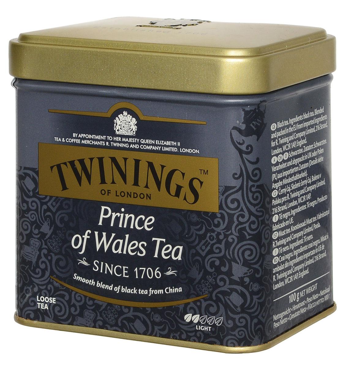 Twinings Prince of Wales чай черный листовой, 100 г101246Чай Twinings Prince of Wales идеально подойдет для любителей черного китайского чая. Готовый чай имеет насыщенный неповторимый вкус и аромат.