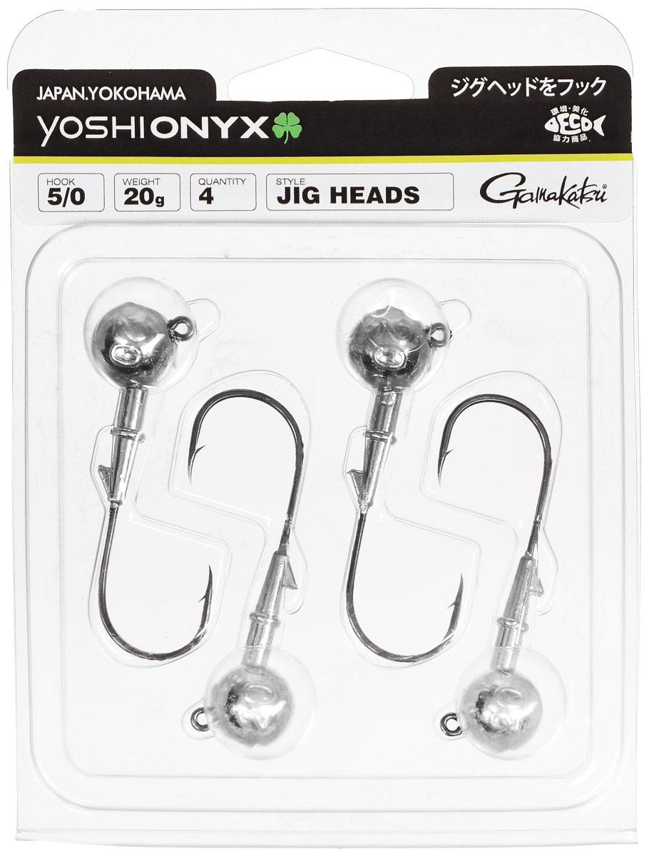 Джиг-головка Yoshi Onyx, крючок Gamakatsu 5/0, 20 г, 4 штMABLSEH10001Джиг-головки Yoshi Onyx предназначены в первую очередь для донной спиннинговой ловли - джиг спиннинга. Джиг головками оснащаются всевозможные мягкие приманки: виброхвосты, твистеры, силиконовые рачки и черви. Возможно их применение и с естественными насадками, к примеру, при ловле судака бортовой удочкой на мертвую рыбку или кусочки рыбы. Джиг-головка оснащена крючком Gamakatsu. Такой крючок прекрасно пробивает жесткую пасть крупного судака, щуки и сома.Вес: 20 г.Количество: 4 шт.Крючок: Gamakatsu 5/0.