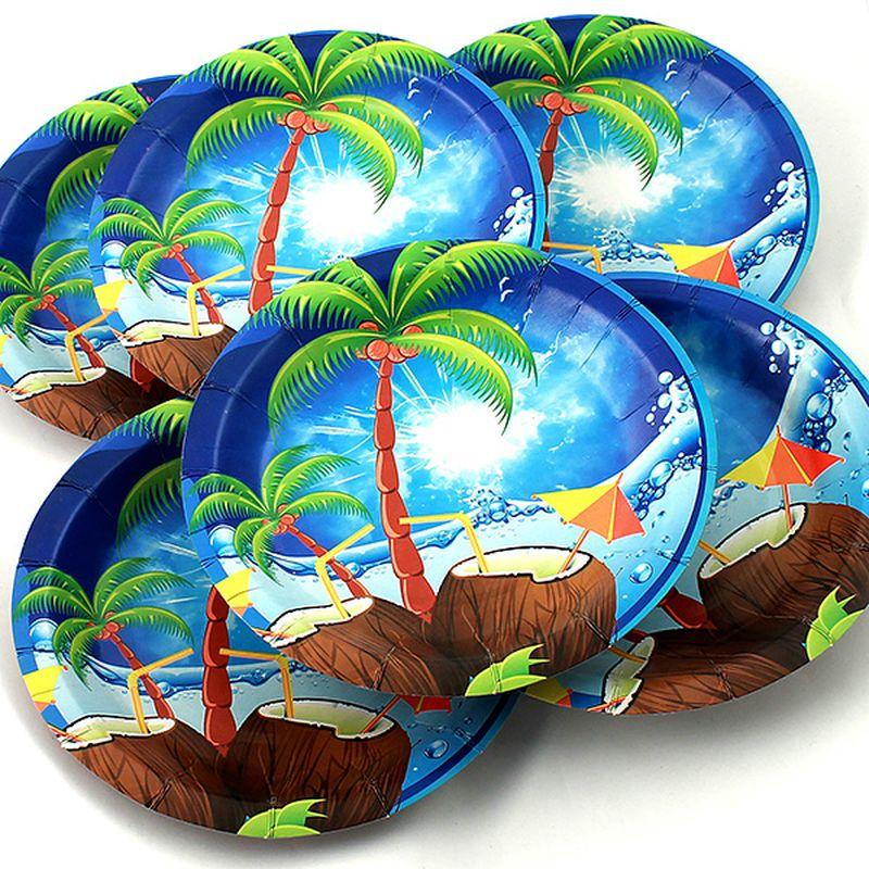 Набор тарелок Эврика Пальма, 6 шт54 009312Набор картонных тарелочек с красочным рисунком. Количество тарелочек в наборе 6 шт, диаметр тарелочки 19 см, глубина 2.5см.