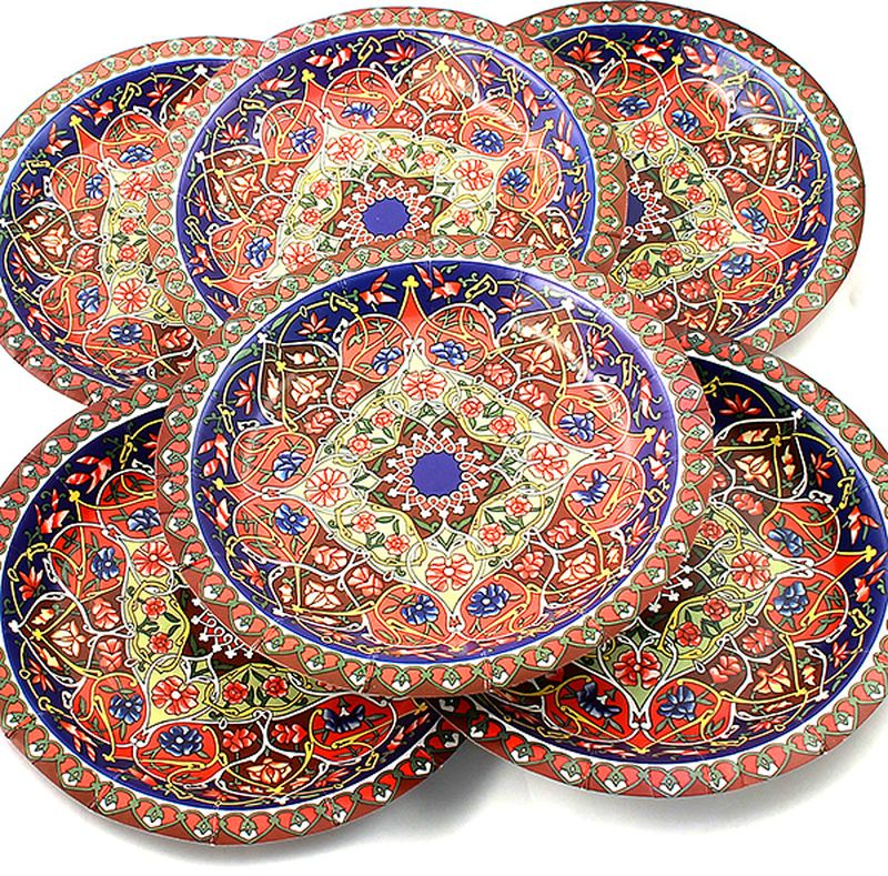 Набор тарелок Эврика Разноцветная, 6 шт54 009312Набор картонных тарелочек с красочным рисунком. Количество тарелочек в наборе 6 шт, диаметр тарелочки 19 см, глубина 2.5см.