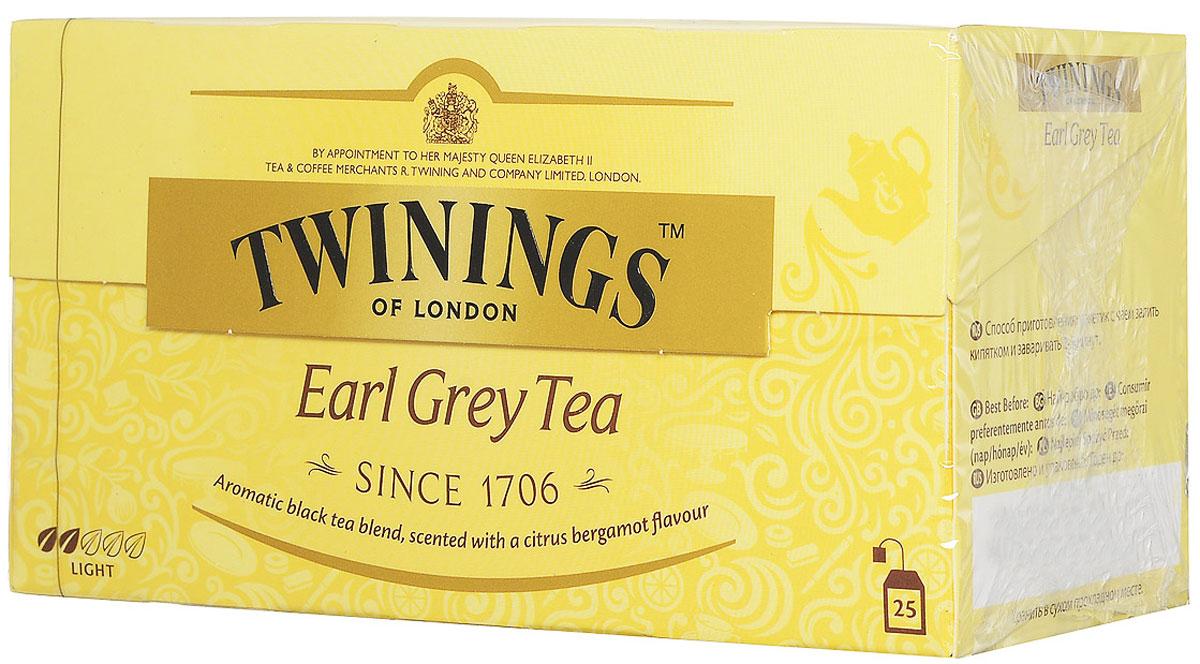 Twinings Earl Grey чай черный в пакетиках, 25 шт02288Чай Twinings - это истинно английский напиток премиум-класса, который выпускается одним из лидеров международного рынка чая.Компания была основана в 1706 Томасом Твайнингом, который открыл свой частный чайный салон в Лондоне, на улице Стрэнд.Начните день с чашки душистого напитка и ощутите прилив сил и хорошего настроения.