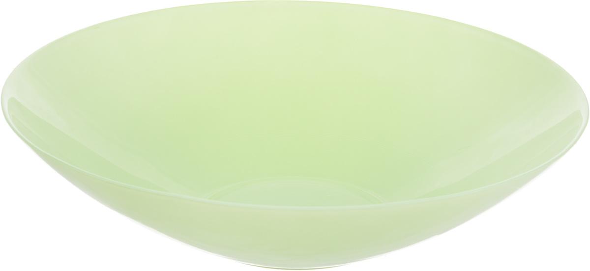 Салатник NiNaGlass Голландия, цвет: мятный, матовый, диаметр 30 см54 009312Салатник NiNaGlass Голландия выполнен из высококачественного стекла. Салатник идеален для сервировки салатов, овощей, ягод, фруктов, гарниров и многого другого. Он отлично подойдет как для повседневных, так и для торжественных случаев.Такой салатник прекрасно впишется в интерьер вашей кухни и станет достойным дополнением к кухонному инвентарю. Диаметр салатника (по верхнему краю): 30 см. Высота стенки: 7,5 см.