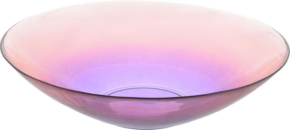 Салатник NiNaGlass Голландия, цвет: розово-фиолетовый, диаметр 30 см54 009312Салатник NiNaGlass Голландия выполнен из высококачественного стекла. Салатник идеален для сервировки салатов, овощей, ягод, фруктов, гарниров и многого другого. Он отлично подойдет как для повседневных, так и для торжественных случаев.Такой салатник прекрасно впишется в интерьер вашей кухни и станет достойным дополнением к кухонному инвентарю. Диаметр салатника (по верхнему краю): 30 см. Высота стенки: 7,5 см.