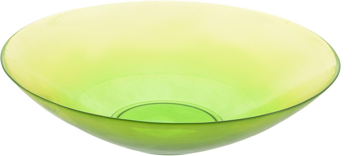 Салатник NiNaGlass Голландия, цвет: желто-зеленый, диаметр 30 смVT-1520(SR)Салатник NiNaGlass Голландия выполнен из высококачественного стекла. Салатник идеален для сервировки салатов, овощей, ягод, фруктов, гарниров и многого другого. Он отлично подойдет как для повседневных, так и для торжественных случаев.Такой салатник прекрасно впишется в интерьер вашей кухни и станет достойным дополнением к кухонному инвентарю. Диаметр салатника (по верхнему краю): 30 см. Высота стенки: 7,5 см.