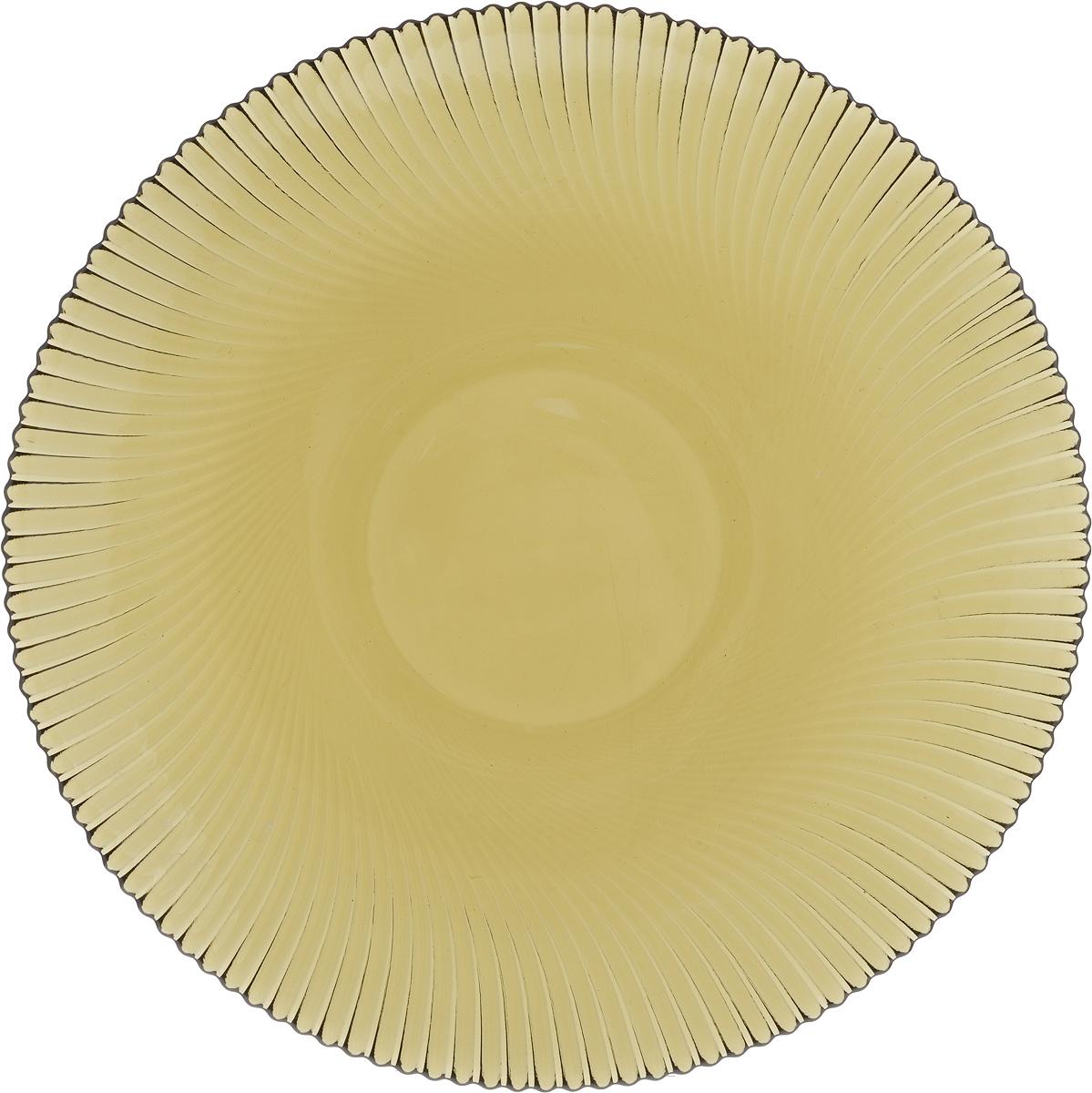 Тарелка NiNaGlass Альтера, цвет: дымчатый, диаметр 26 см115510Тарелка NiNaGlass Альтера выполнена из высококачественного стекла и оформлена красивым рельефным узором. Тарелка идеальна для подачи вторых блюд, а также сервировки закусок, нарезок, десертов и многого другого. Она отлично подойдет как для повседневных, так и для торжественных случаев.Такая тарелка прекрасно впишется в интерьер вашей кухни и станет достойным дополнением к кухонному инвентарю.