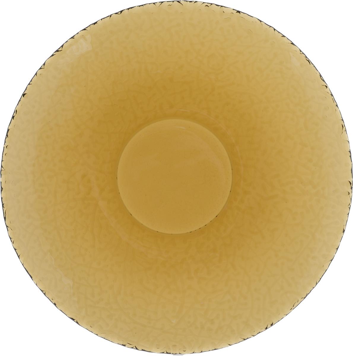 Тарелка NiNaGlass Ажур, цвет: дымчатый, диаметр 26 см890158Тарелка NiNaGlass Ажур выполнена из высококачественного стекла и имеет рельефную внешнюю поверхность. Она прекрасно впишется в интерьер вашей кухни и станет достойным дополнением к кухонному инвентарю. Тарелка NiNaGlass Ажур подчеркнет прекрасный вкус хозяйки и станет отличным подарком.Диаметр тарелки: 26 см.Высота: 3 см.