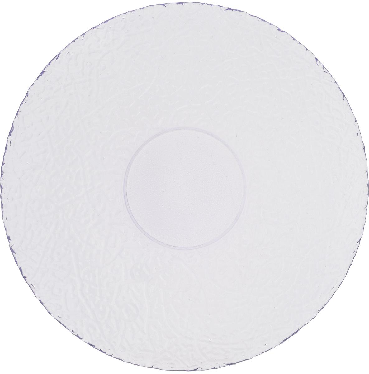 Тарелка NiNaGlass Ажур, цвет: светло-сиреневый, диаметр 26 см54 009312Тарелка NiNaGlass Ажур выполнена из высококачественного стекла и имеет рельефную внешнюю поверхность. Она прекрасно впишется в интерьер вашей кухни и станет достойным дополнением к кухонному инвентарю. Тарелка NiNaGlass Ажур подчеркнет прекрасный вкус хозяйки и станет отличным подарком.Диаметр тарелки: 26 см.Высота: 3 см.