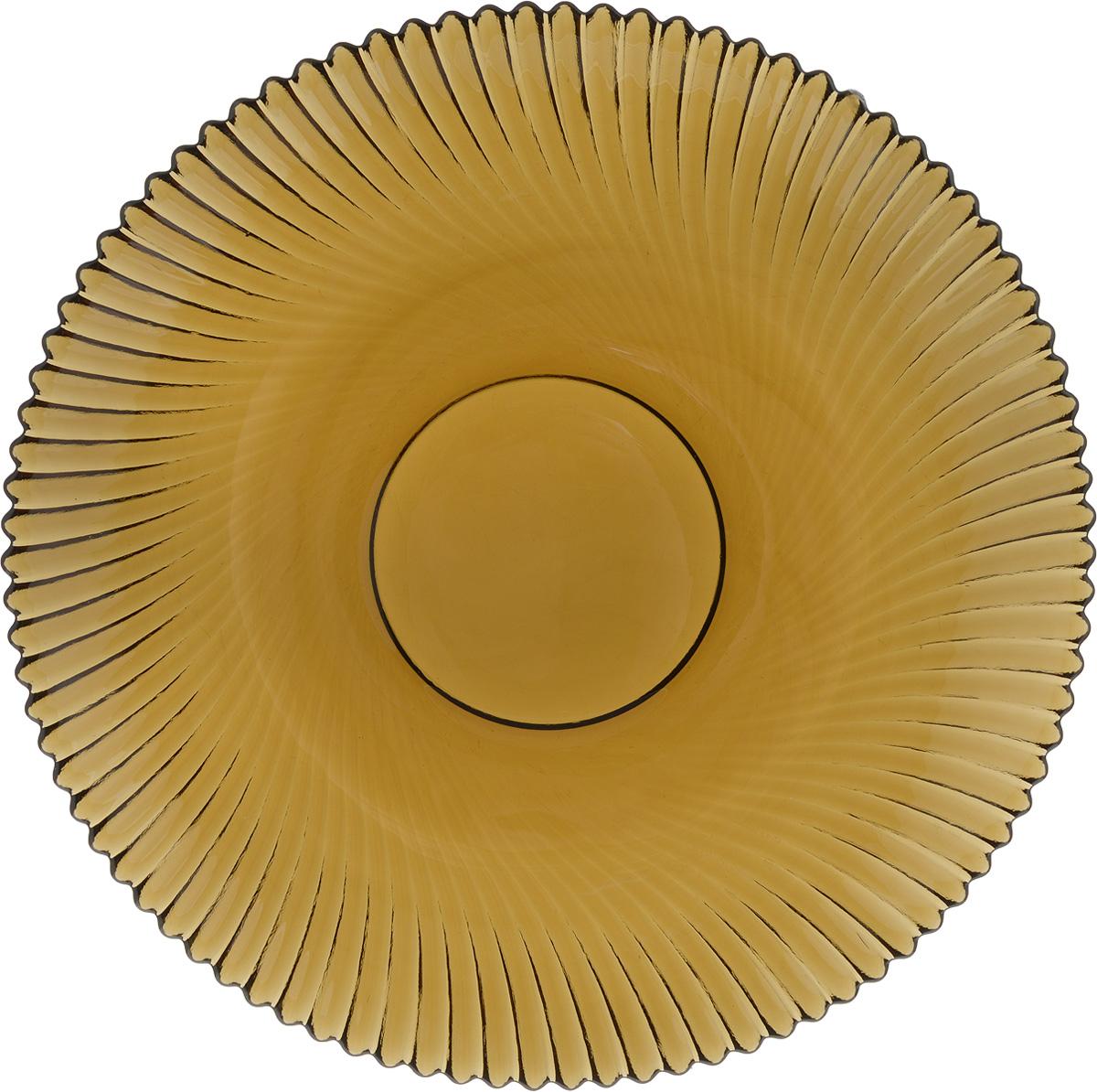 Тарелка NiNaGlass Альтера, цвет: дымчатый, диаметр 21 см115510Тарелка NiNaGlass Альтера выполнена из высококачественного стекла и оформлена красивым рельефным узором. Тарелка идеальна для подачи вторых блюд, а также сервировки закусок, нарезок, десертов и многого другого. Она отлично подойдет как для повседневных, так и для торжественных случаев.Такая тарелка прекрасно впишется в интерьер вашей кухни и станет достойным дополнением к кухонному инвентарю.