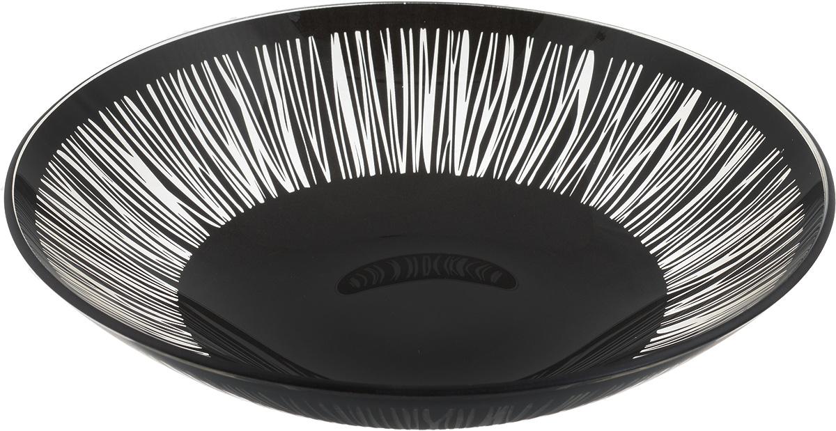 Тарелка глубокая NiNaGlass Витас, цвет: черный, диаметр 22 см115510Тарелка NiNaGlass Витас выполнена из высококачественного стекла и оформлена цветочным узором. Она прекрасно впишется в интерьер вашей кухни и станет достойным дополнениемк кухонному инвентарю. Тарелка NiNaGlass Витас подчеркнет прекрасный вкус хозяйки и станет отличным подарком.Диаметр тарелки: 22 см.Высота: 5 см.