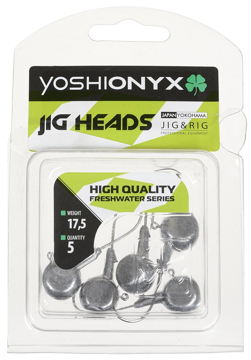 Джиг-головка Yoshi Onyx JIG Bros. Аспирин, крючок Gamakatsu, 17,5 г, 5 шт