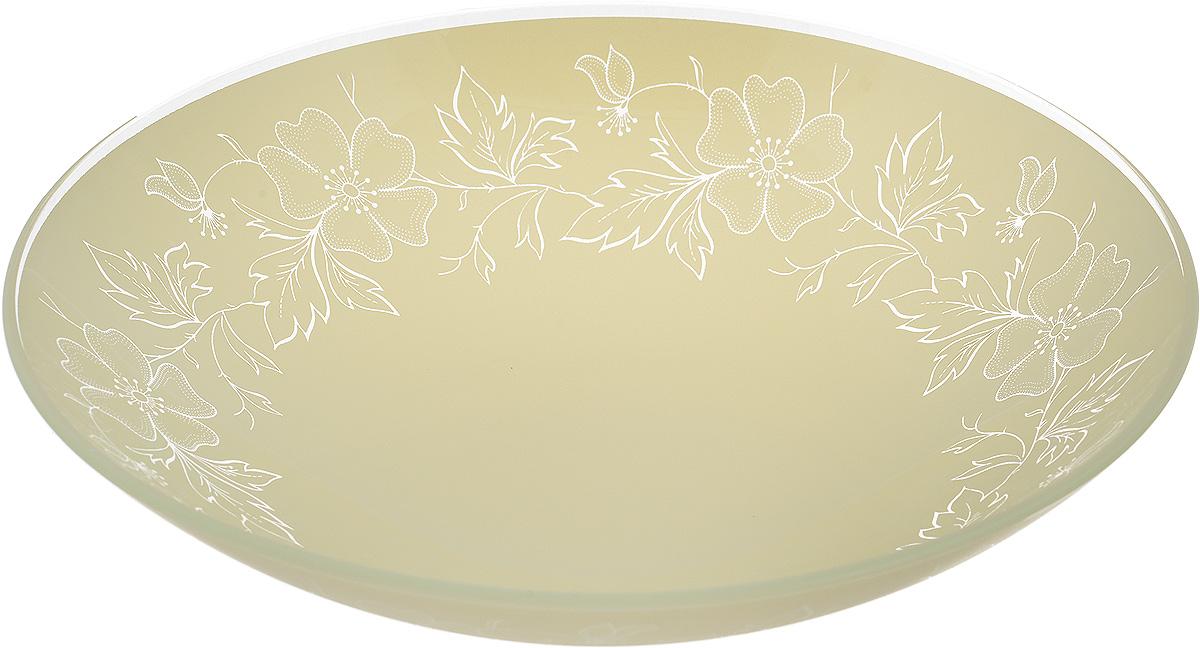 Тарелка глубокая NiNaGlass Лара, цвет: светло-бежевый, диаметр 22 см54 009312Тарелка NiNaGlass Лара выполнена из высококачественного стекла и оформлена цветочным узором. Она прекрасно впишется в интерьер вашей кухни и станет достойным дополнениемк кухонному инвентарю. Тарелка NiNaGlass Лара подчеркнет прекрасный вкус хозяйки и станет отличным подарком.Диаметр тарелки: 22 см.Высота: 5 см.