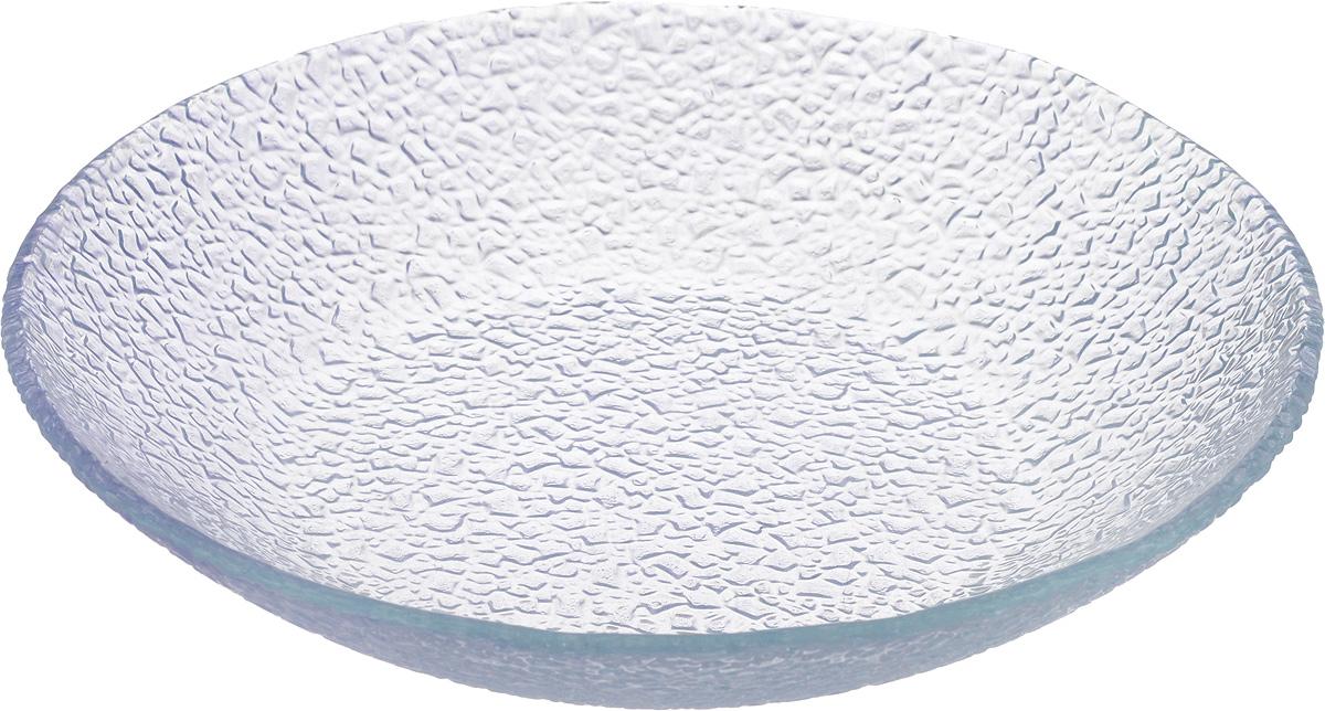 Тарелка Vellarti, цвет: светло-сиреневый, диаметр 20 см115510Тарелка Vellarti выполнена из высококачественного стекла и имеет рельефную внешнюю поверхность. Она прекрасно впишется в интерьер вашей кухни и станет достойным дополнением к кухонному инвентарю. Тарелка Vellarti подчеркнет прекрасный вкус хозяйки и станет отличным подарком.Диаметр тарелки: 20 см.Высота: 4 см.