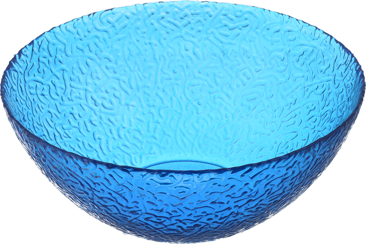 Салатник NiNaGlass Ажур, цвет: синий, диаметр 25 смTDBOWL-OСалатник NiNaGlass Ажур выполнен из высококачественного стекла и декорирован рельефным узором. Он подойдет для сервировки стола, как для повседневных, так и для торжественных случаев.Такой салатник прекрасно впишется в интерьер вашей кухни и станет достойным дополнением к кухонному инвентарю. Подчеркнет прекрасный вкус хозяйки и станет отличным подарком. Диаметр салатника (по верхнему краю): 25 см. Высота: 10,5 см.