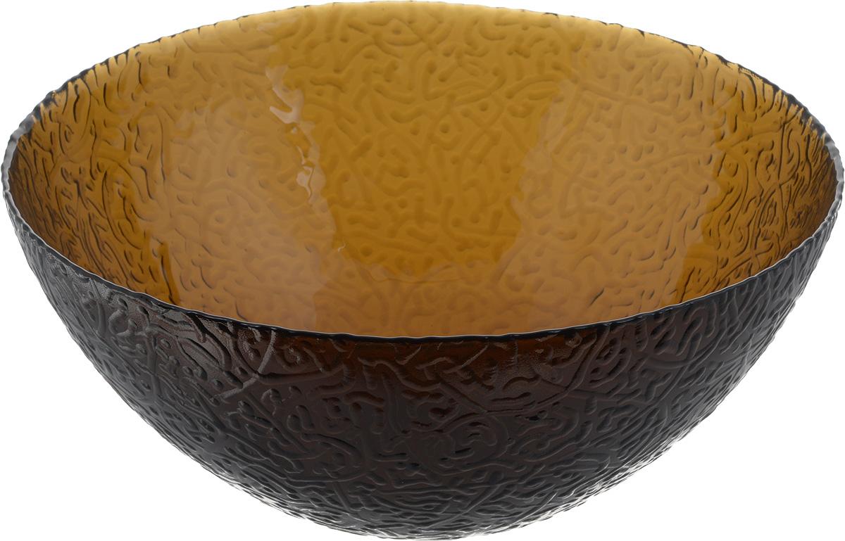 Салатник NiNaGlass Ажур, цвет: коричневый, диаметр 25 см115510Салатник NiNaGlass Ажур выполнен из высококачественного стекла и декорирован рельефным узором. Он подойдет для сервировки стола, как для повседневных, так и для торжественных случаев.Такой салатник прекрасно впишется в интерьер вашей кухни и станет достойным дополнением к кухонному инвентарю. Подчеркнет прекрасный вкус хозяйки и станет отличным подарком. Диаметр салатника (по верхнему краю): 25 см. Высота: 10,5 см.