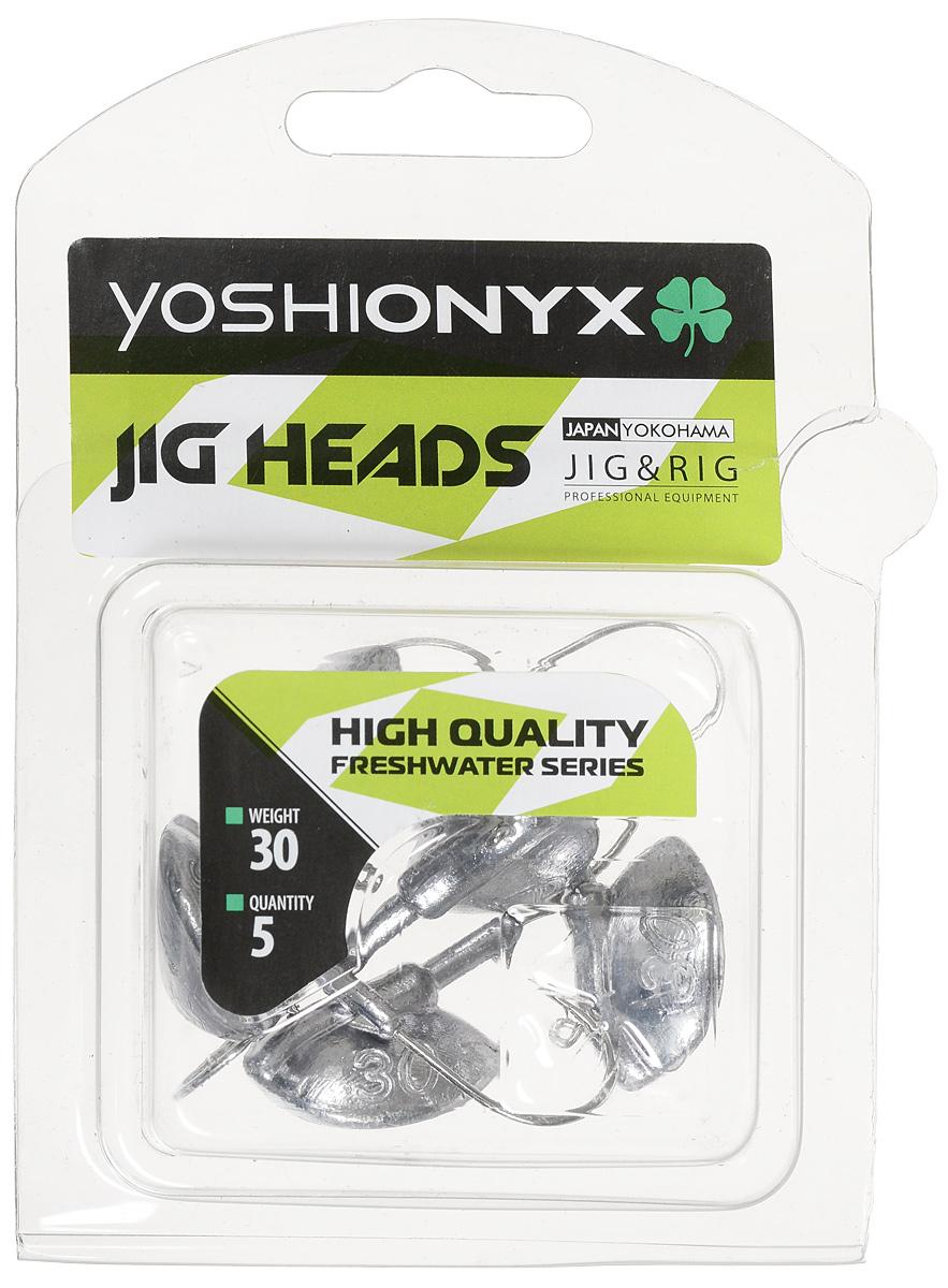Джиг-головка Yoshi Onyx JIG Bros. Каблучок, крючок Gamakatsu, 30 г, 5 штPGPS7797CIS08GBNVДжиг-головки Yoshi Onyx JIG Bros. Каблучок используются для огрузки спиннинговых приманок. Специально предназначены для ловли щуки на мягкие приманки на небольшой глубине рядом с водной растительностью. Благодаря особой форме, увеличивается маневренность и управляемость. Джиг-головки оснащены крючком Gamakatsu.