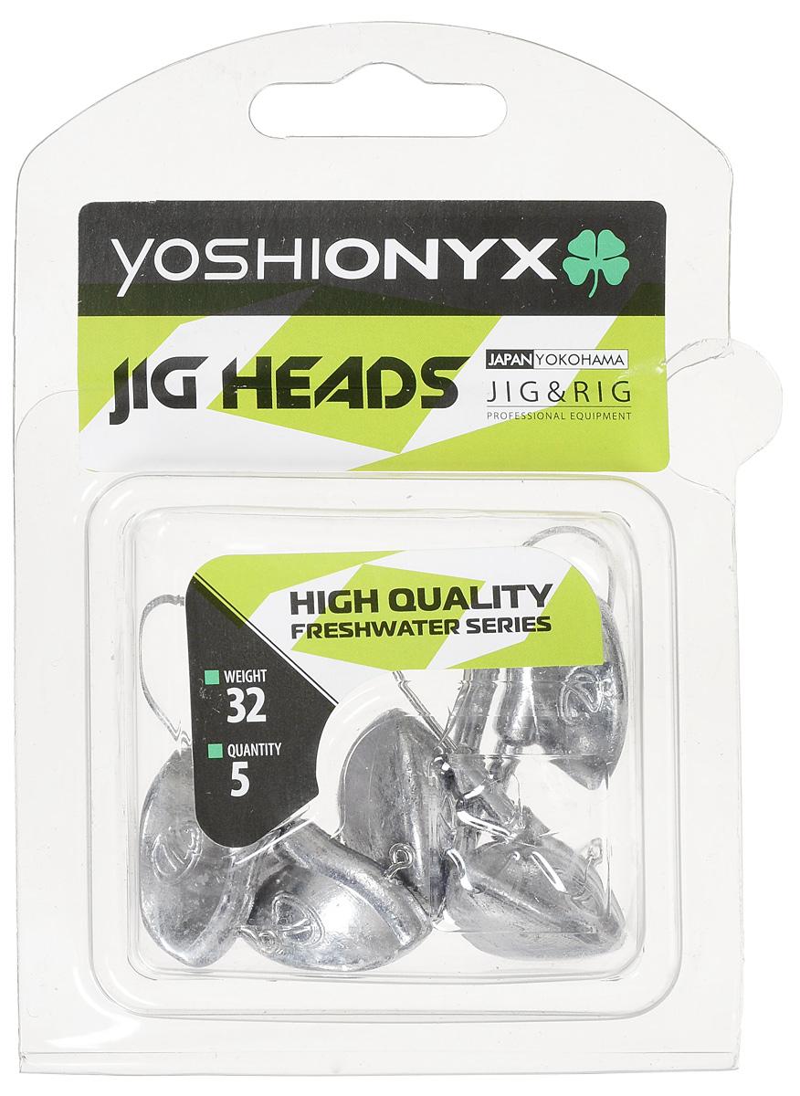 Джиг-головка Yoshi Onyx JIG Bros. Каблучок, крючок Gamakatsu, 32 г, 5 шт96519Джиг-головки Yoshi Onyx JIG Bros. Каблучок используются для огрузки спиннинговых приманок. Специально предназначены для ловли щуки на мягкие приманки на небольшой глубине рядом с водной растительностью. Благодаря особой форме, увеличивается маневренность и управляемость. Джиг-головки оснащены крючком Gamakatsu.
