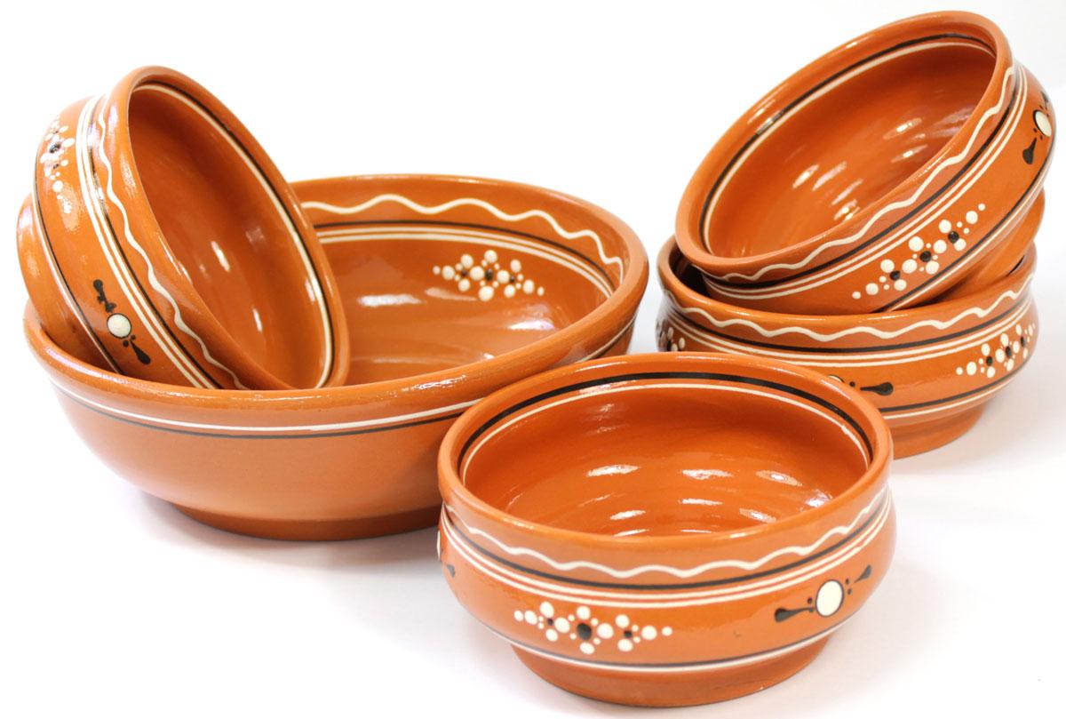 Набор мисок Ломоносовская керамика, 5 штH3560Набор мисок Ломоносовская керамика изготовлен из высококачественной глины и включает в себя пять мисок. Стильный набор мисок украсит сервировку вашего стола и подчеркнет прекрасный вкус хозяйки, а также станет отличным подарком.