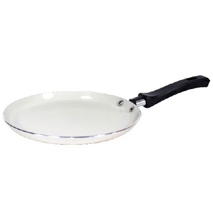 Сковорода блинная NaturePan Еco-Line. Диаметр 22 смAL-4983.26Сковорода блинная NaturePan Еco-Line выполнена из классического штампованного алюминия. Легкая и удобная сковорода обладает быстрым нагревом.На такой сковороде можно готовить широкий спектр блюд - блины, оладьи, драники, домашнюю пиццу. И все это за минимальное время и с минимальным количеством масла.Не выделяет вредных веществ! Не содержит PFOA! Подходит для всех плит, кроме индукционных. Также можно использовать в духовке и мыть в посудомоечной машине.Диаметр по верхнему краю: 22 см.