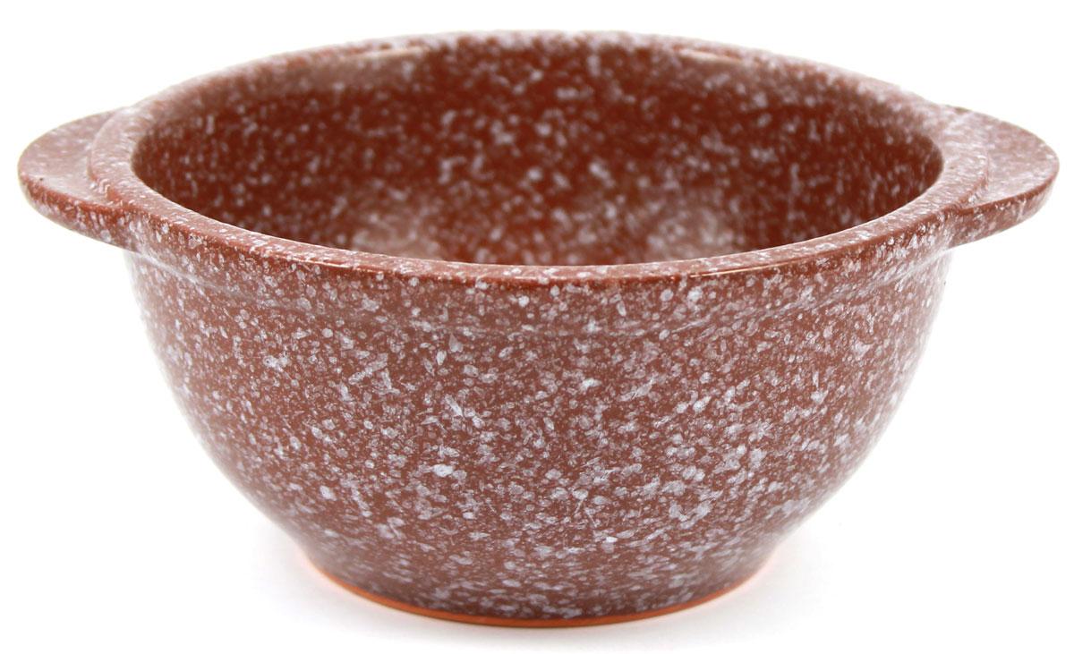 Бульонница Ломоносовская керамика, цвет: коричневый, 500 мл бульонница фисташковая 500 мл 751099