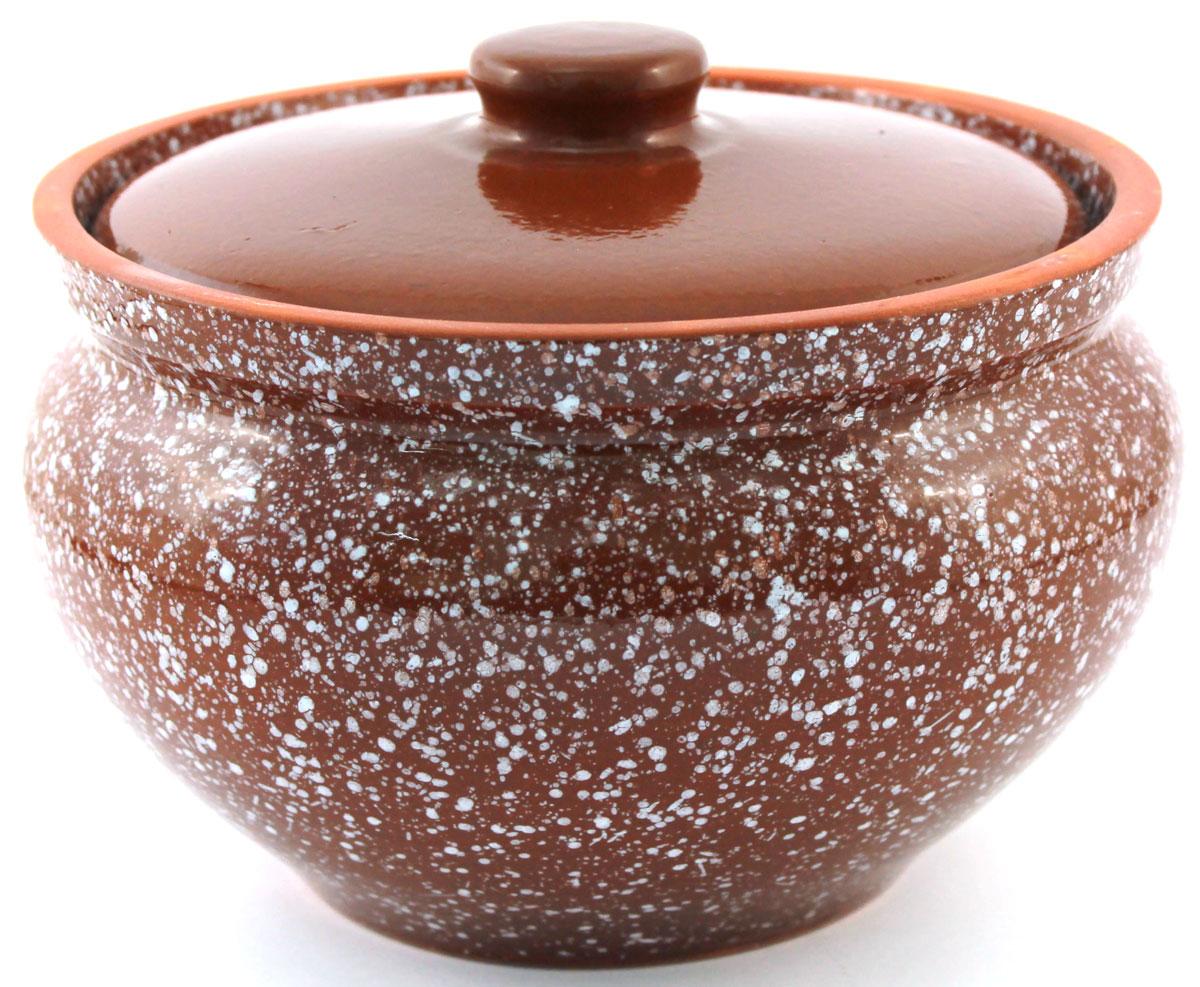 Горшок для запекания Ломоносовская керамика, с крышкой, цвет: коричневый мрамор, 1,5 л54 009312Горшок для запекания Ломоносовская керамика с крышкой выполнен из высококачественной глины. Уникальные свойства глины и толстые стенки изделия обеспечивают эффект русской печи при приготовлении блюд. Блюда, приготовленные в керамическом горшке, получаются нежными исочными. Вы сможете приготовить мясо, сделать томленые овощи и все это без капли масла. Этоодин из самых здоровых способов готовки.